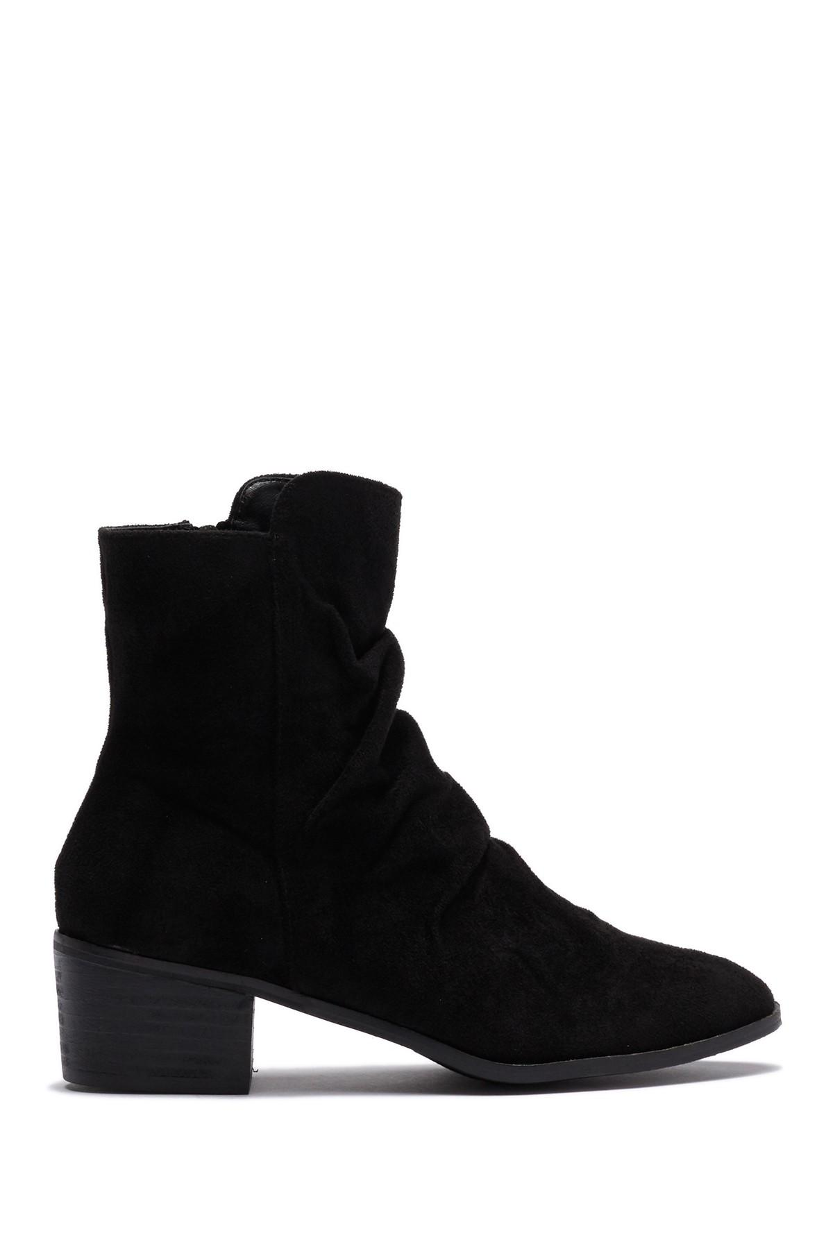 36c84244b1a6 Lyst - Catherine Malandrino Frances Slouch Ankle Bootie in Black