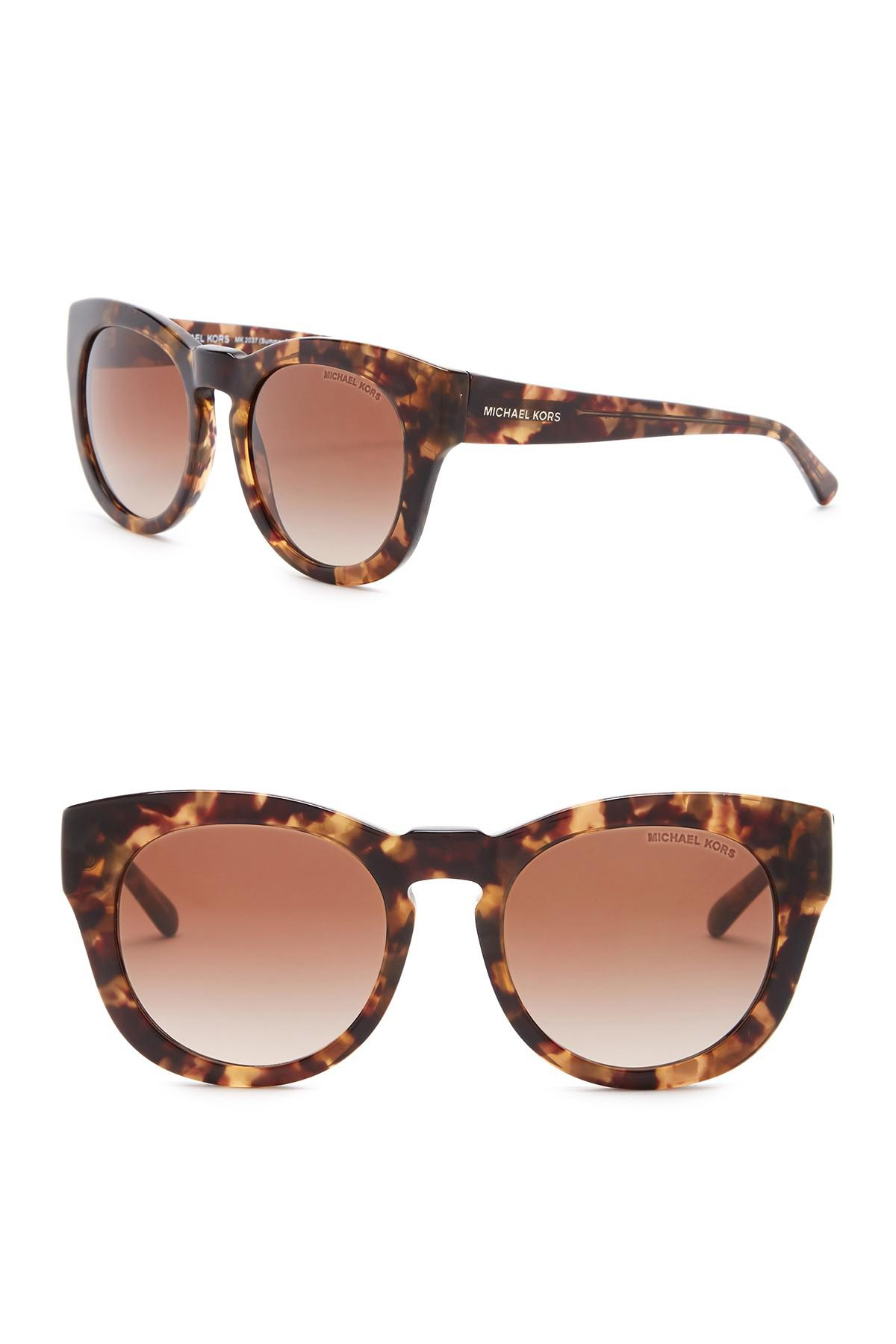 d107cb4e49 Lyst - Michael Kors Summer Breeze 50mm Rounded Sunglasses in Brown