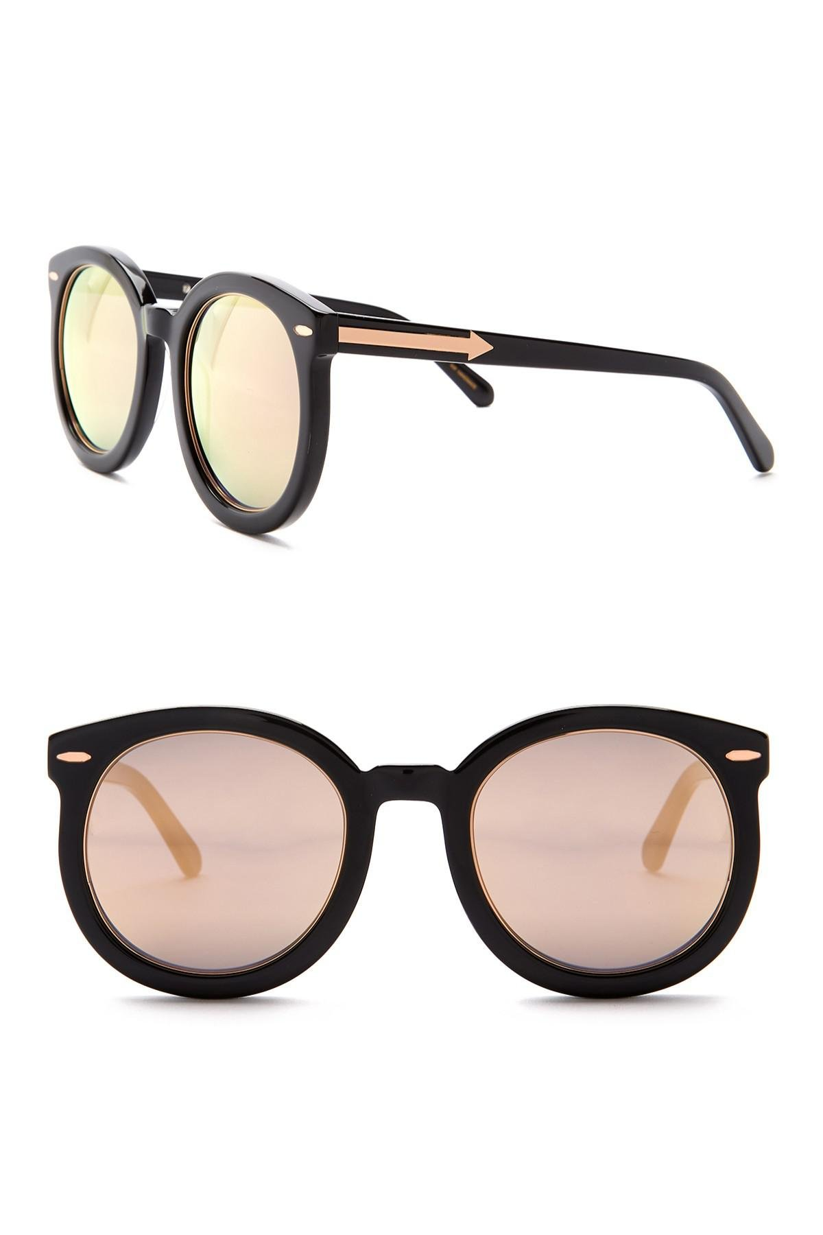91778640302 Lyst - Karen Walker Super Duper Superstars 50mm Round Sunglasses in ...