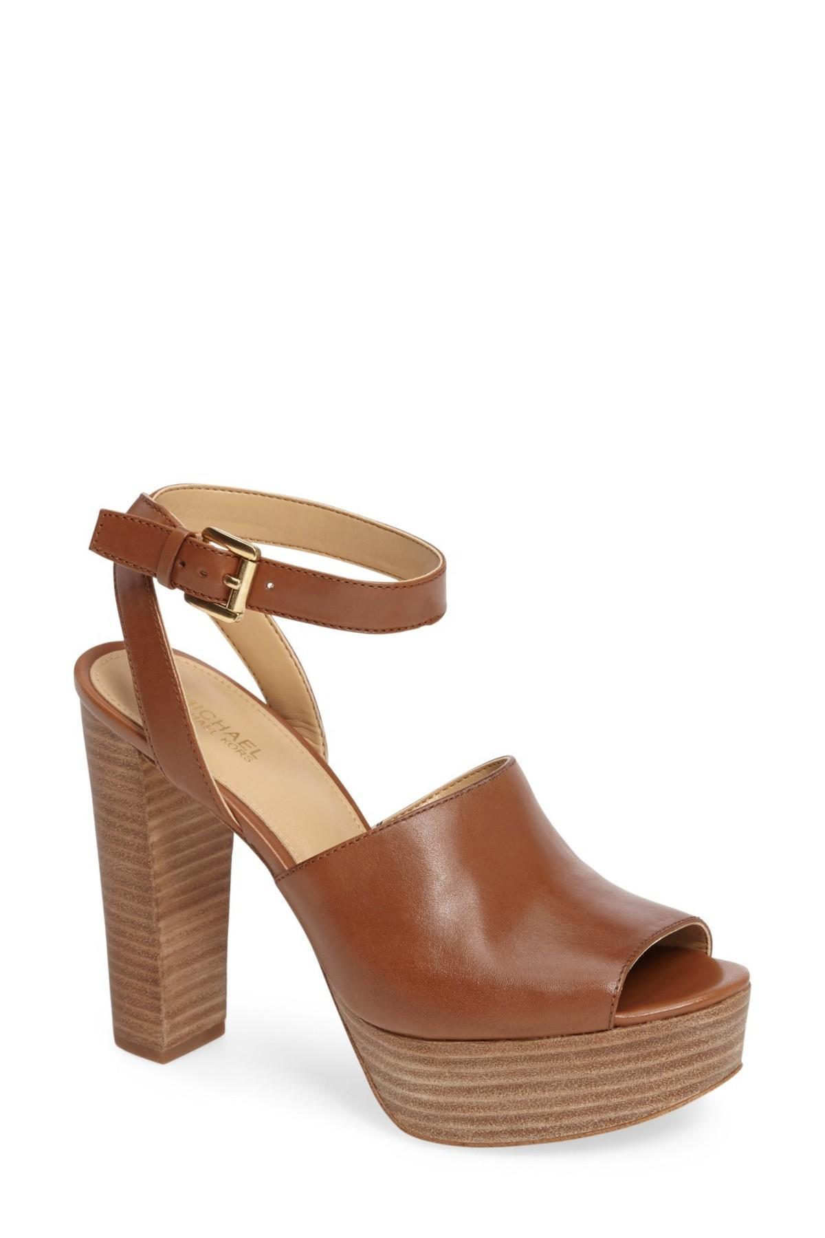 e4e6eba3a04 Lyst - MICHAEL Michael Kors Trina Platform Sandal (women) in Brown