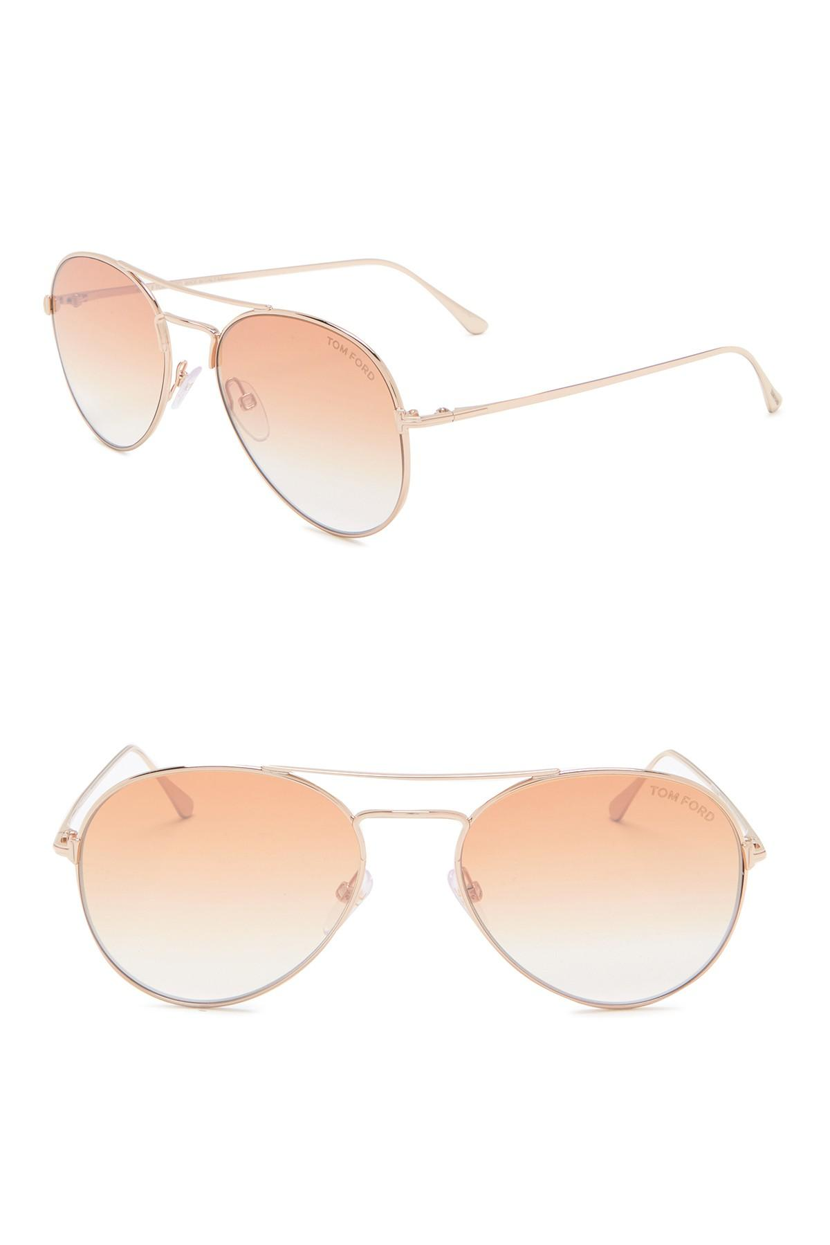 fd2c92fe495 Tom Ford - Multicolor Ace 55mm Aviator Sunglasses for Men - Lyst. View  fullscreen
