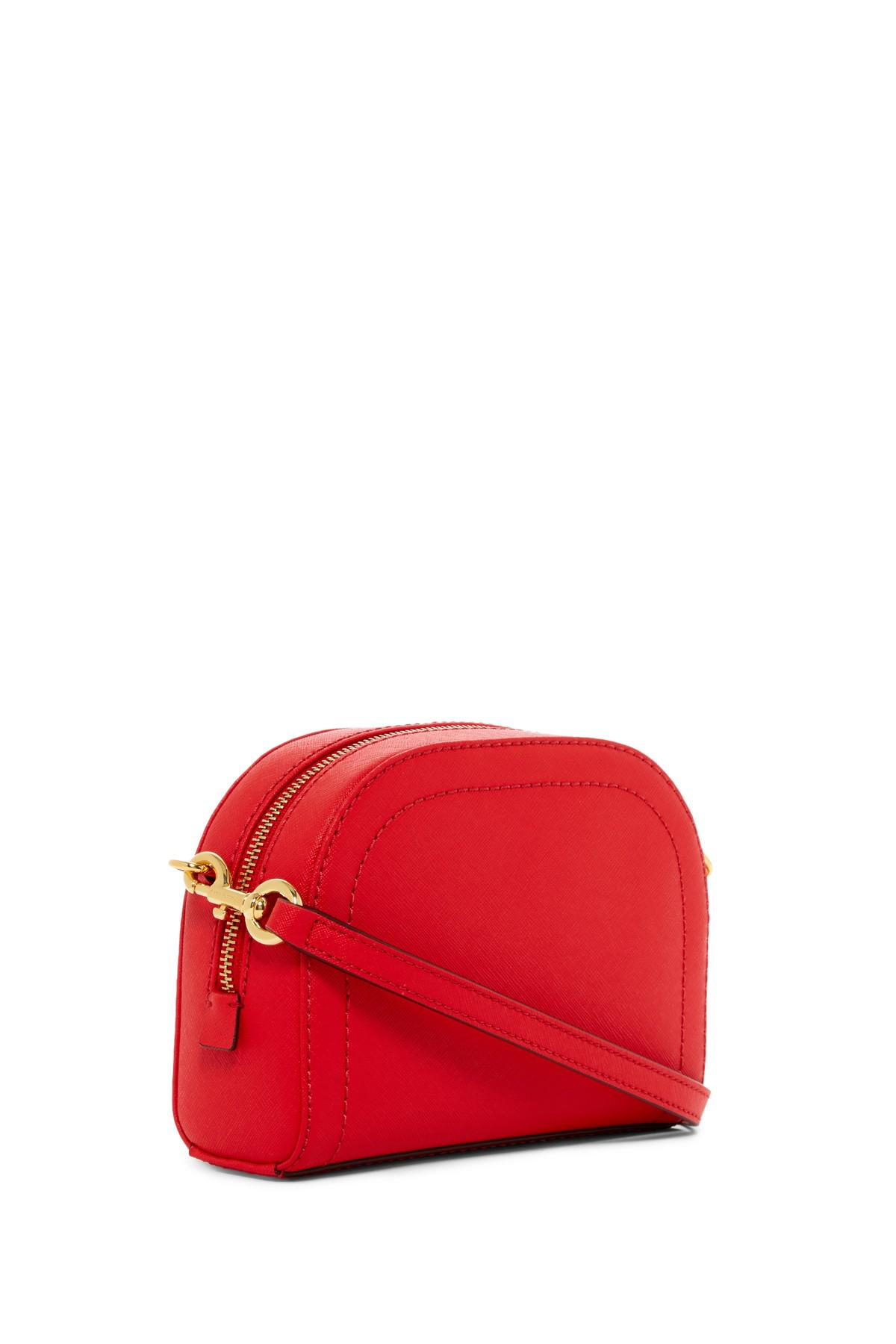 Lyst Marc Jacobs Playback Leather Crossbody Bag In Red