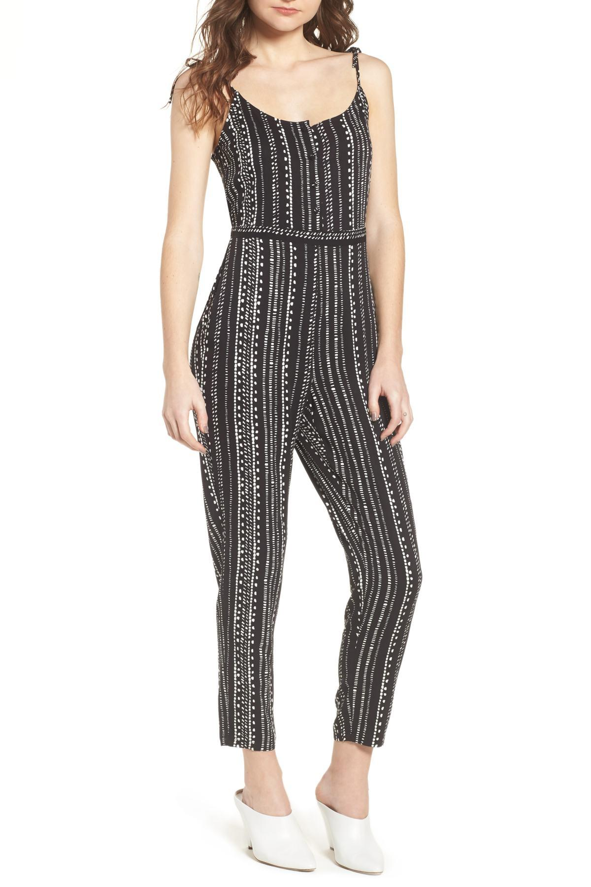 f14075a38456 Lyst - Cupcakes And Cashmere Callia Jumpsuit in Black - Save 36%