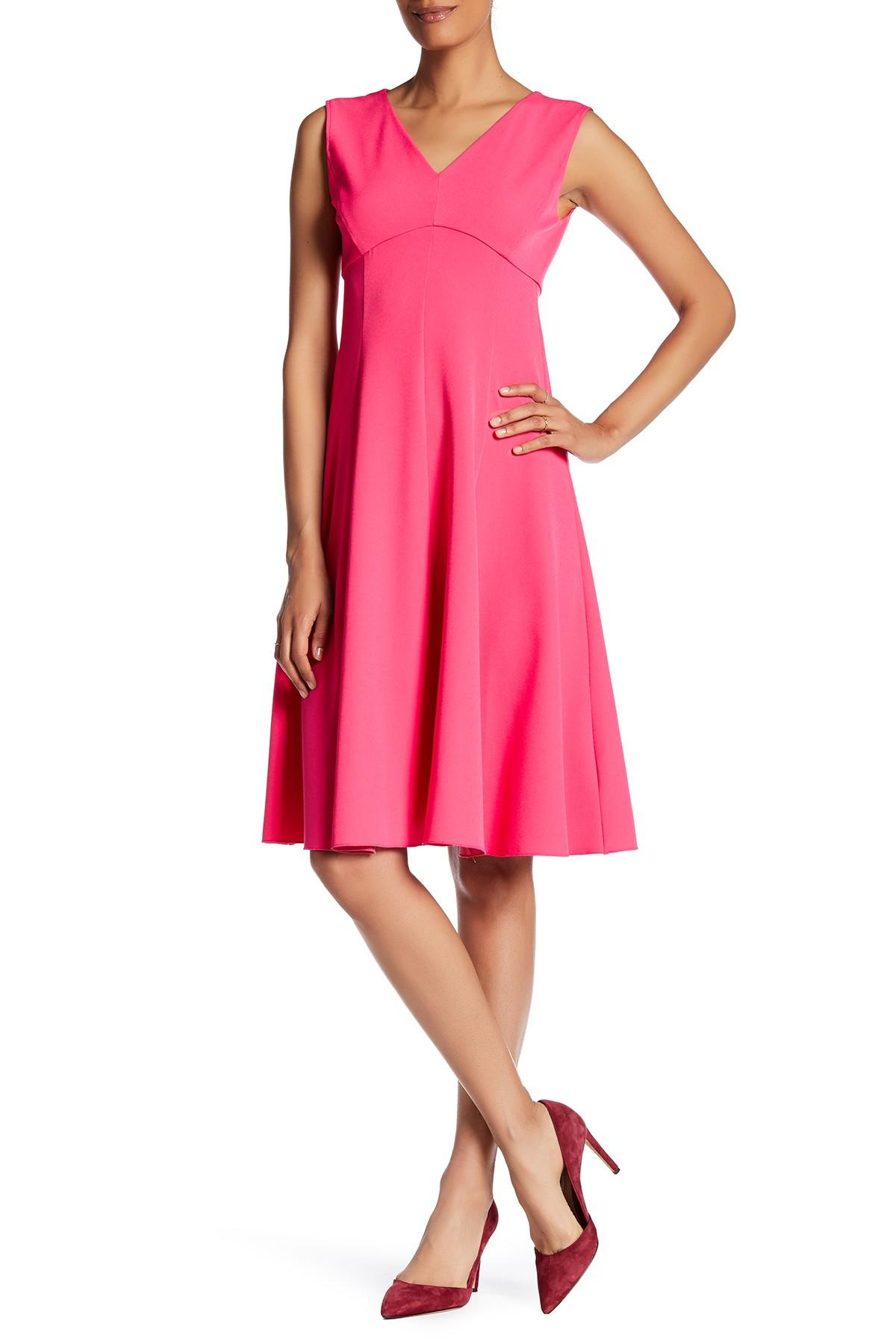 Lands End Empire Waist Midi Dress In Pink Lyst