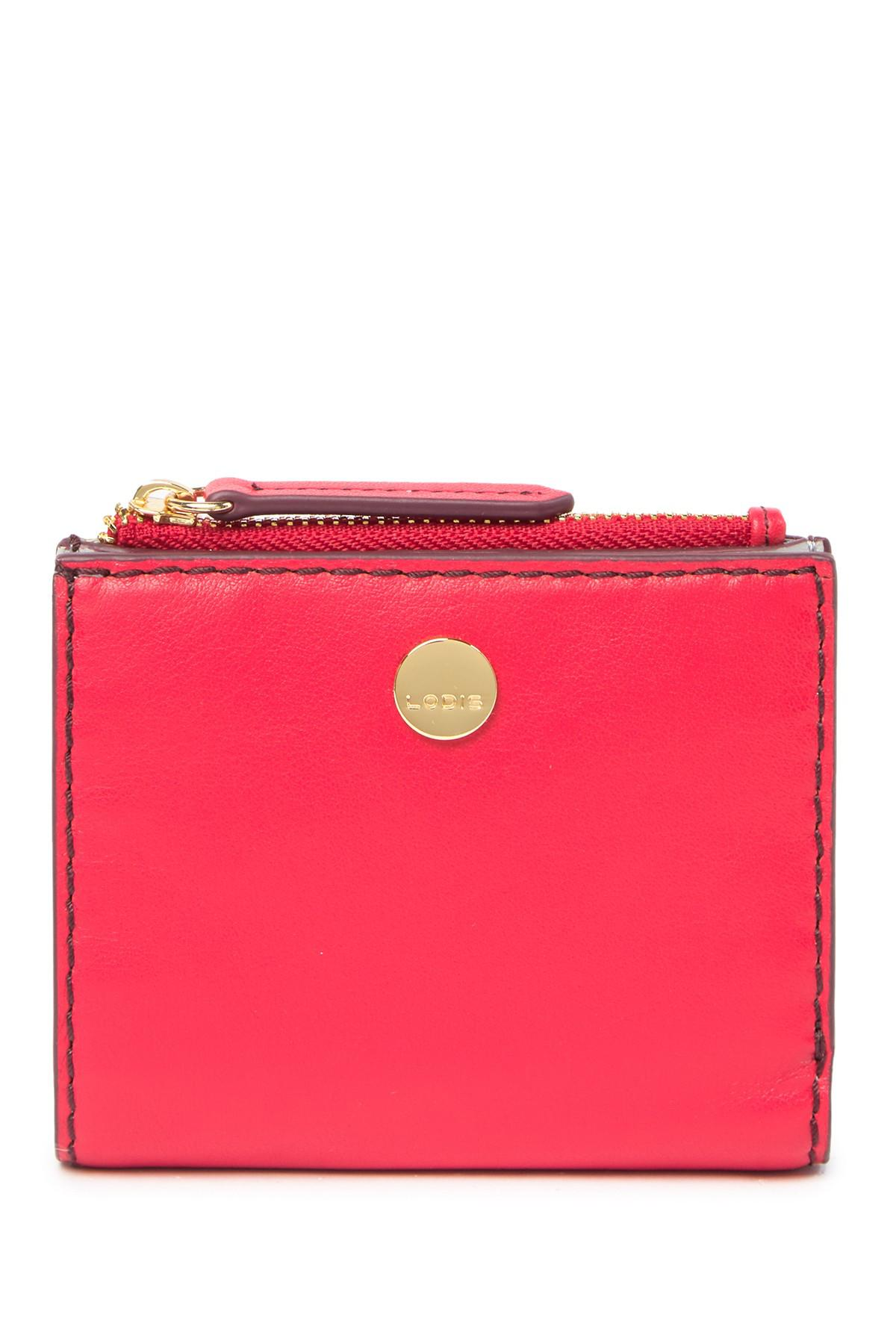575ef2093b Lodis Downtown Aldi Leather Rfid Wallet in Red - Lyst