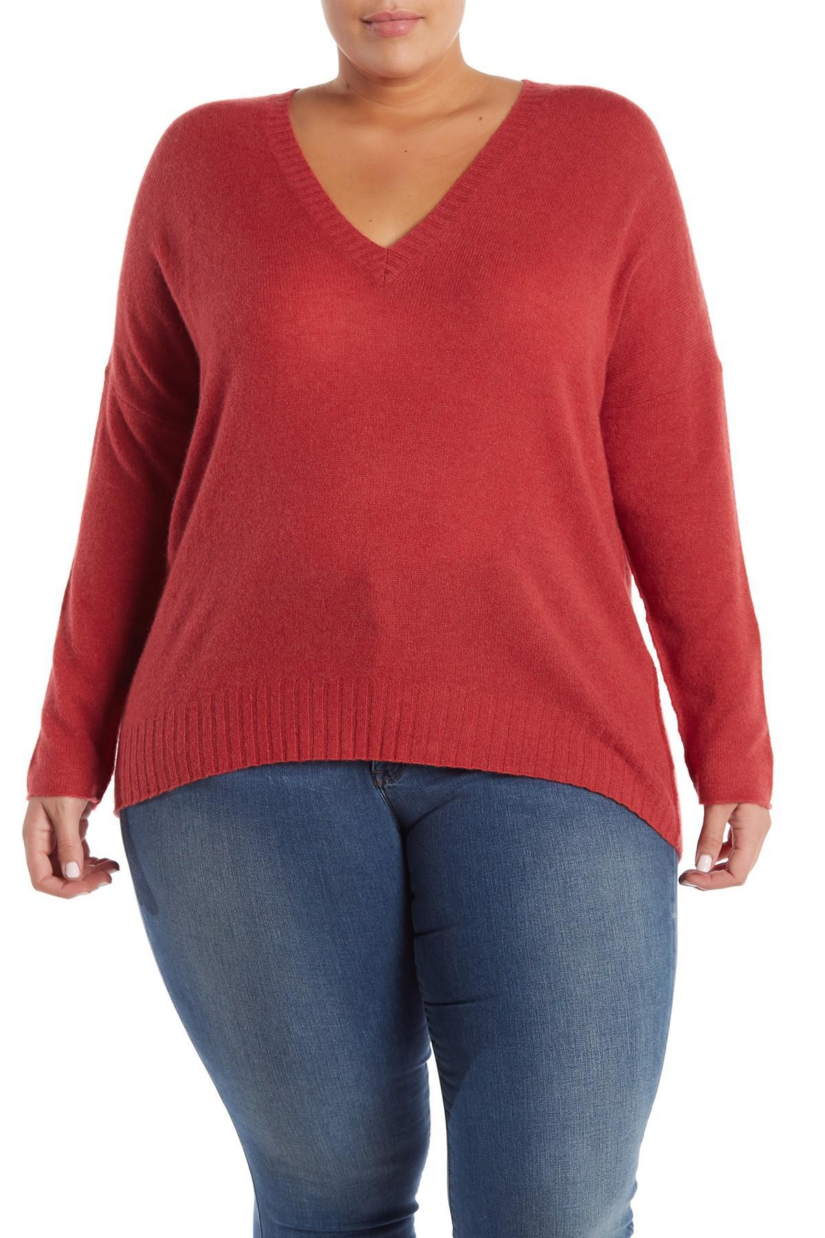 effc6180eab Lyst - NAKEDCASHMERE Skyler V-neck Cashmere Pullover (plus Size) in Red