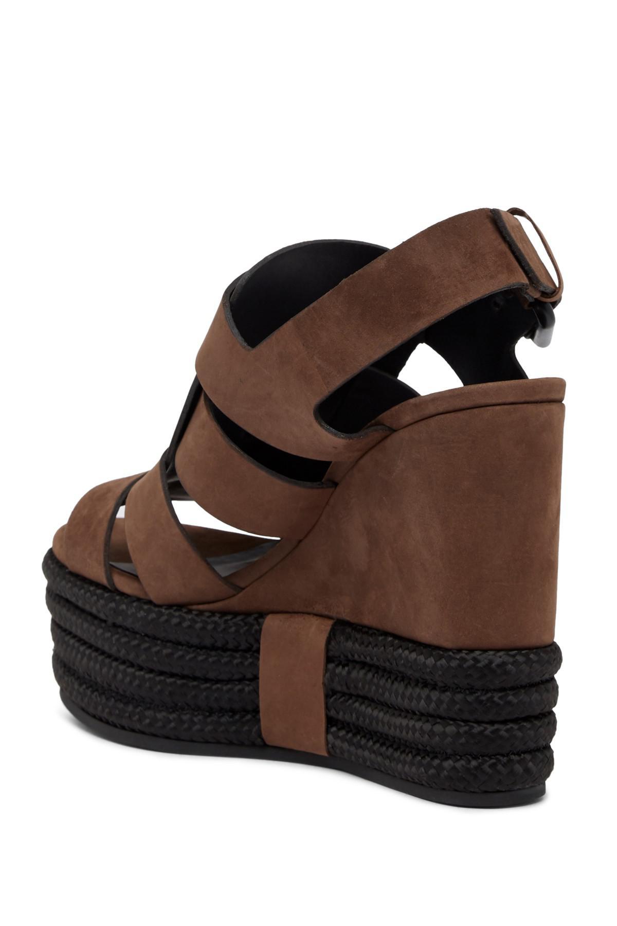 893be68644e Lyst - AllSaints Marzee Platform Wedge Sandal in Brown