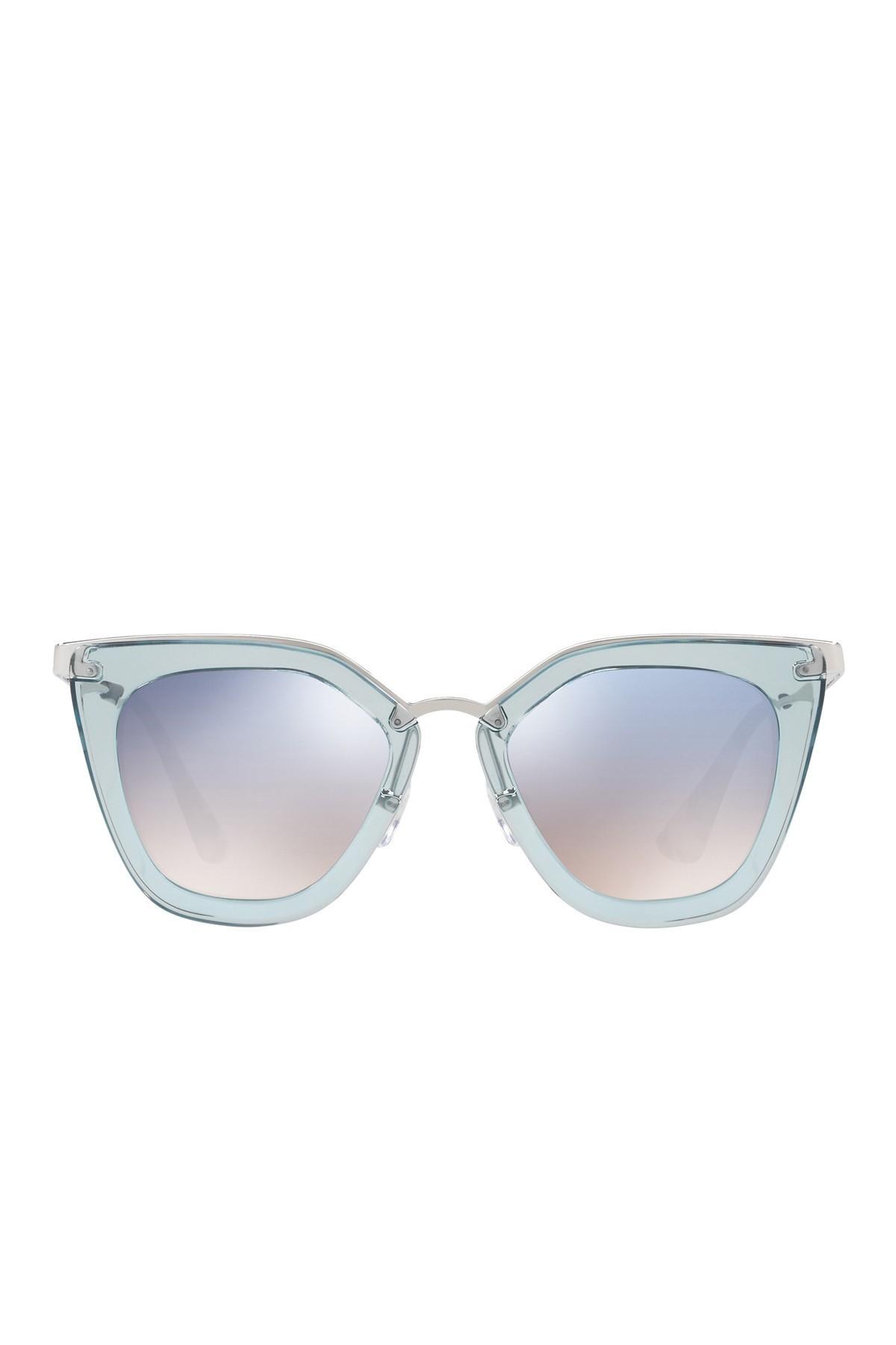 91e981cabef1 Prada - Blue 52mm Retro Sunglasses - Lyst. View fullscreen