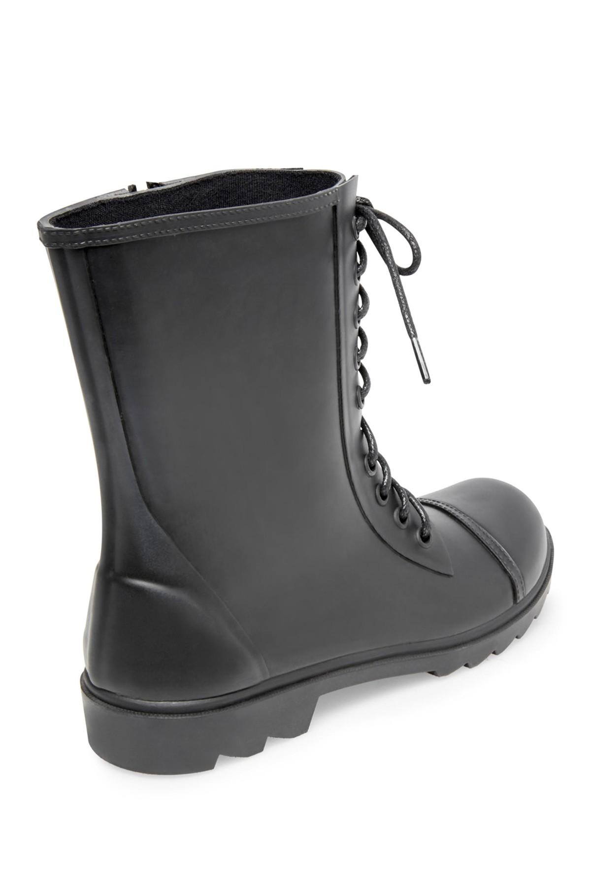 659d0d94c53 Steve Madden - Black Troopa Waterproof Rain Boot (women) - Lyst. View  fullscreen