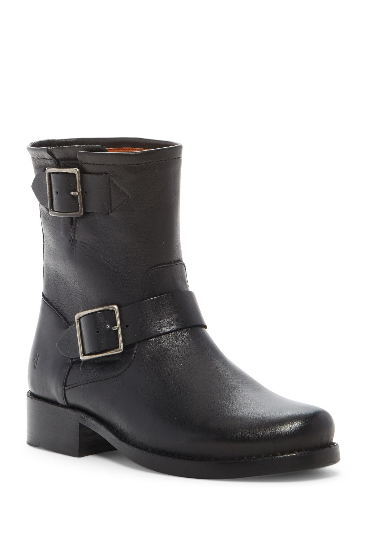 Lyst Frye Vicky Engineer Leather Boot In Black