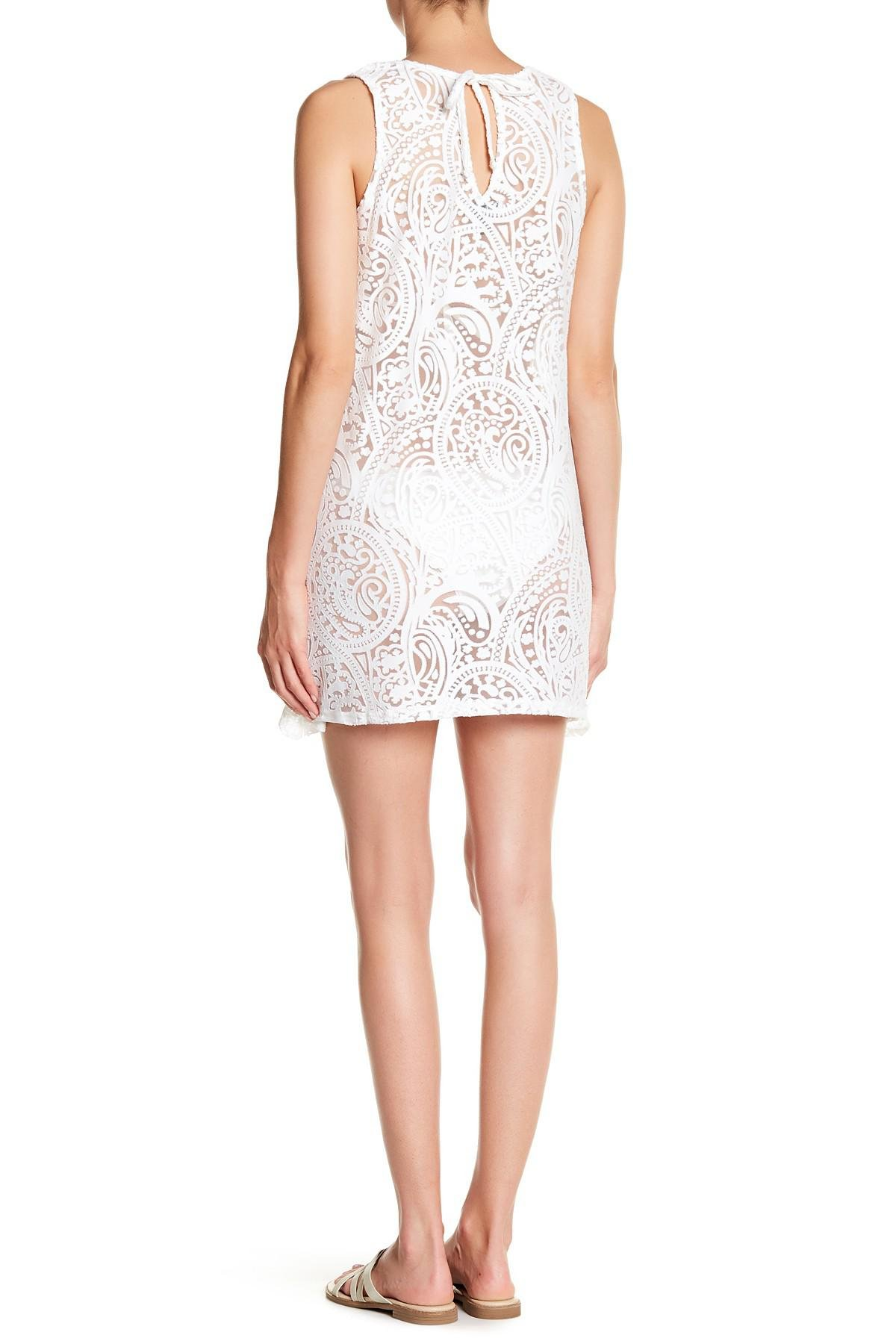 1c05aa1949 Lyst - J Valdi Lace Cover-up in White