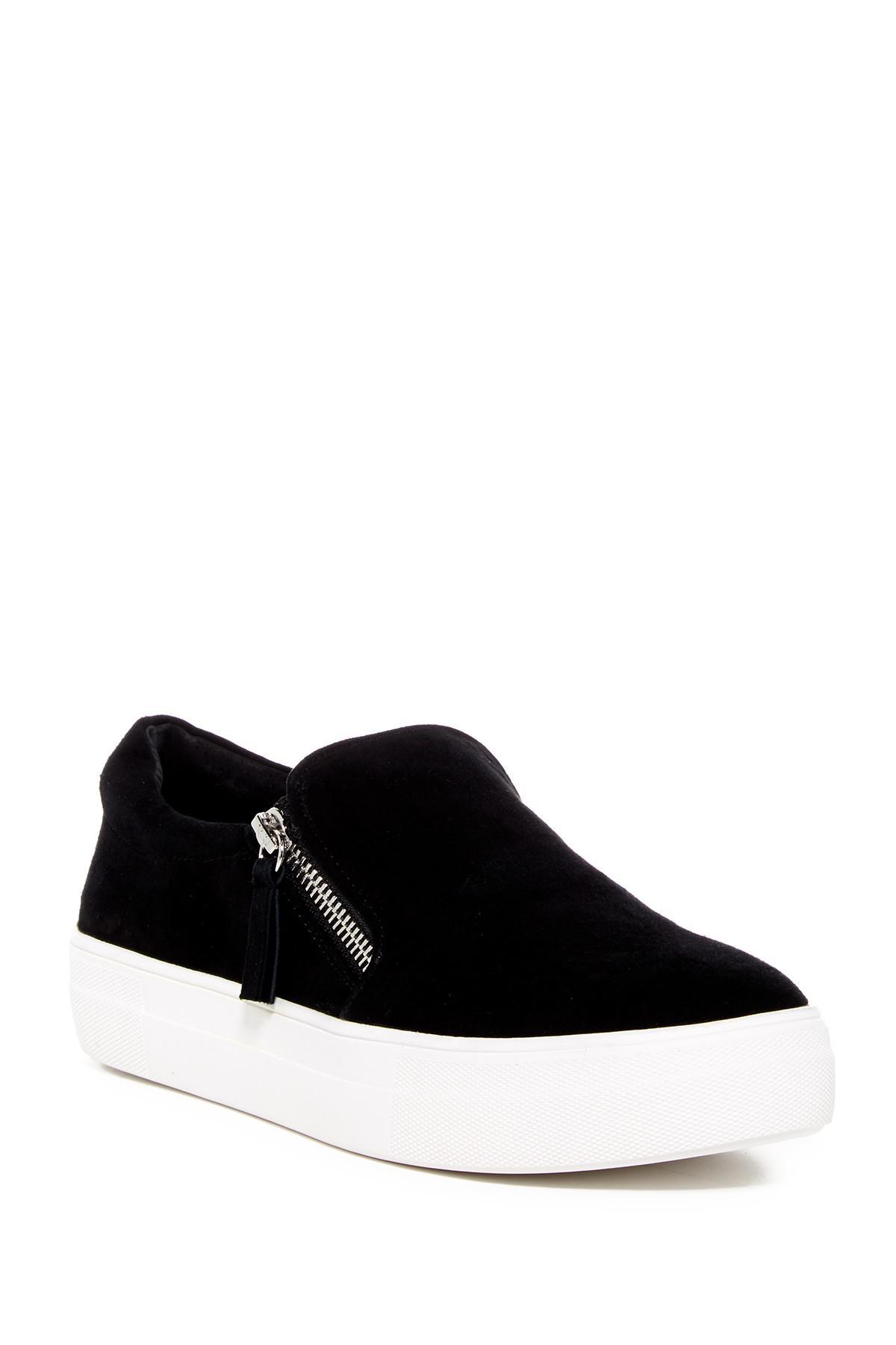 ab968a2d632 Steve Madden Glaammar Zip Embossed Sneaker in Black - Lyst
