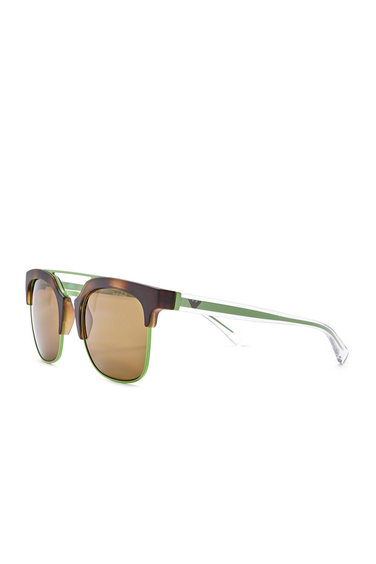 a243dba42f9 Emporio Armani - Multicolor Clubmaster 52mm Metal Frame Sunglasses for Men  - Lyst. View fullscreen