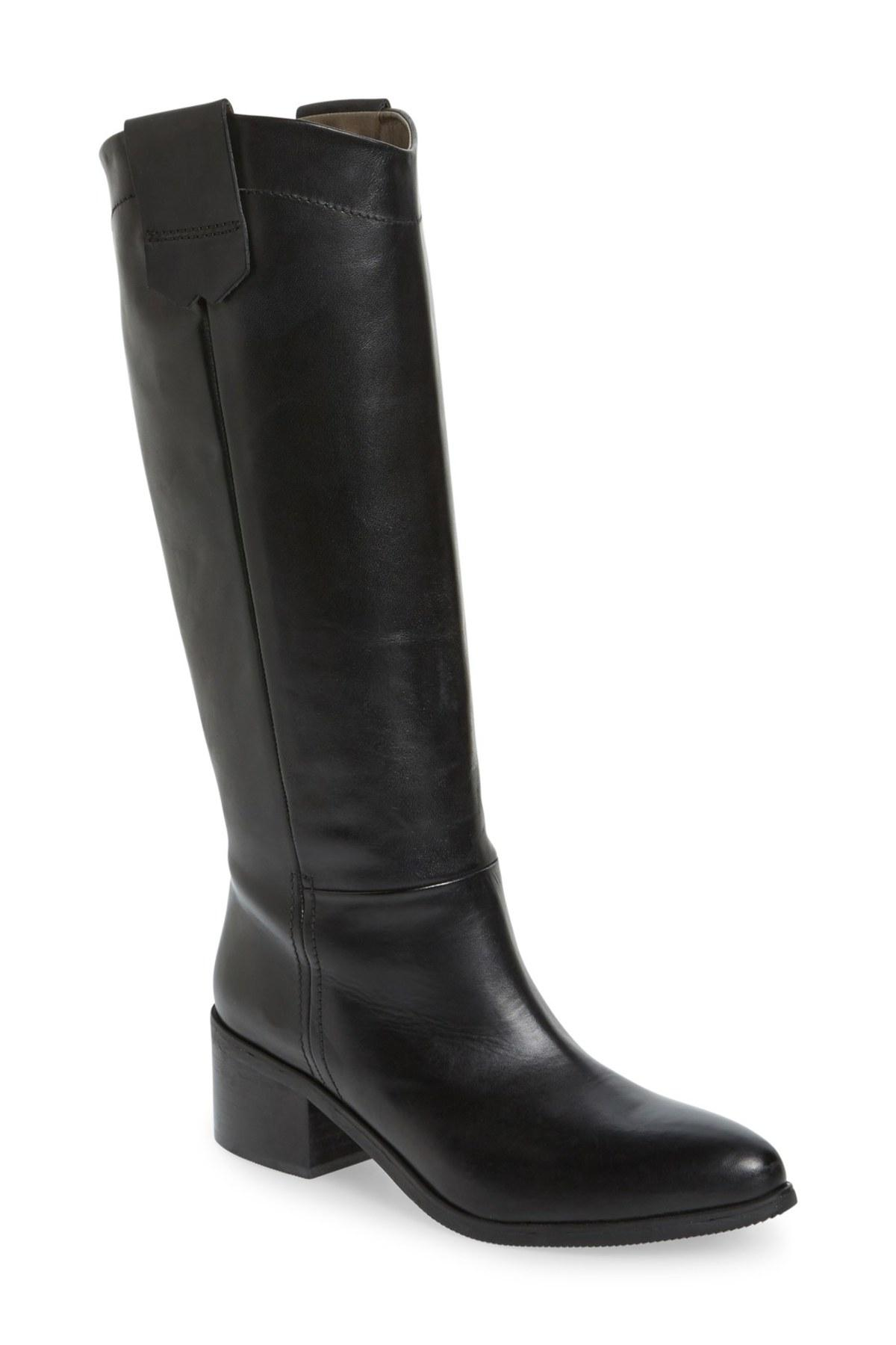 lyst bella vita gia tall riding boot in black. Black Bedroom Furniture Sets. Home Design Ideas