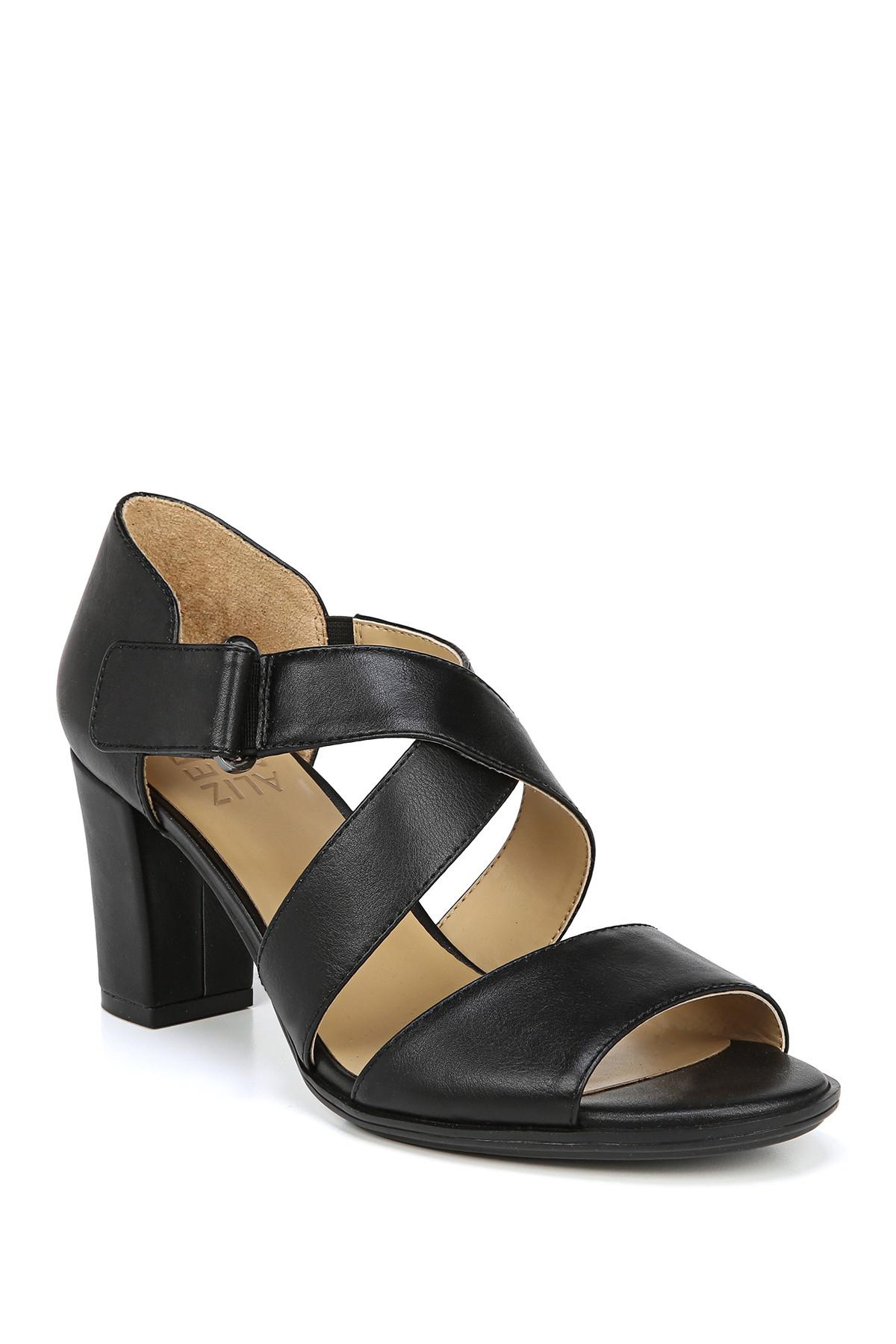 11bca4698744 Lyst - Naturalizer Lindy Sandal - Wide Width Available in Black