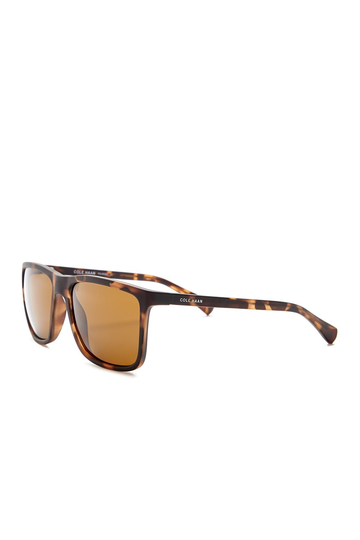7c4c359b9d4f3 Cole Haan - Brown Polarized 56mm Square Sunglasses for Men - Lyst. View  fullscreen