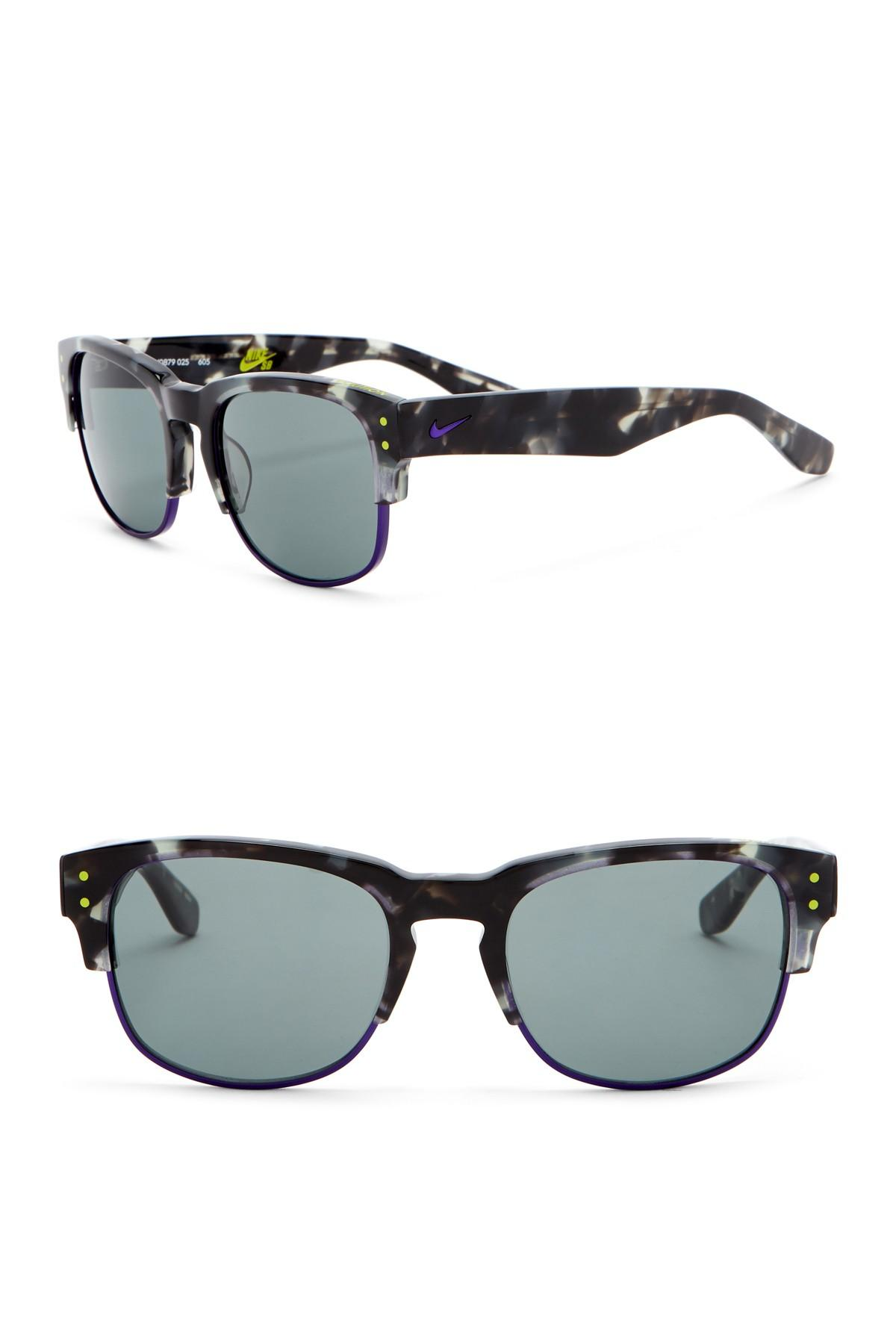04bdbe33ae52 Nike Volition 54mm Clubmaster Sunglasses in Gray for Men - Lyst