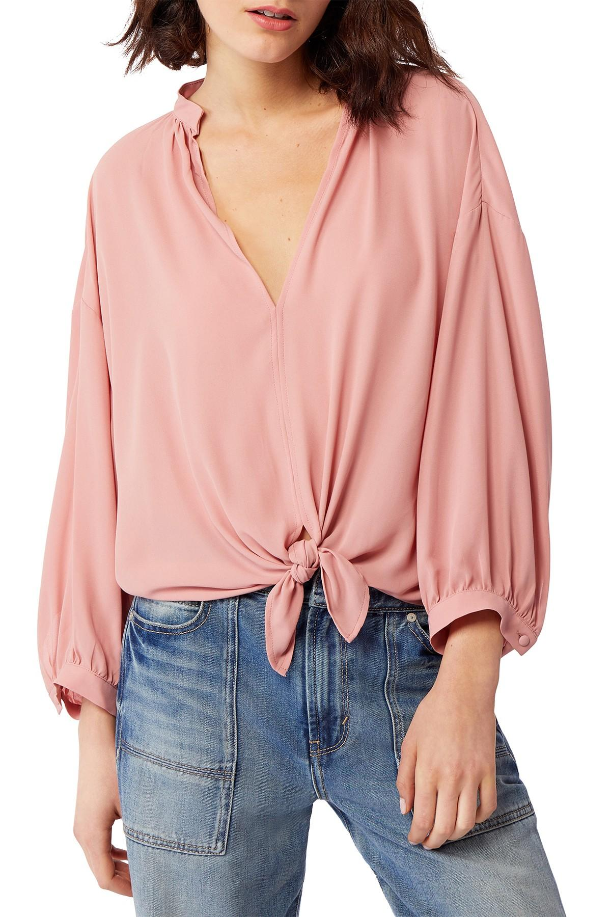 71a19d71486167 Habitual Ryley Long Sleeve Tie-front Blouse in Pink - Lyst