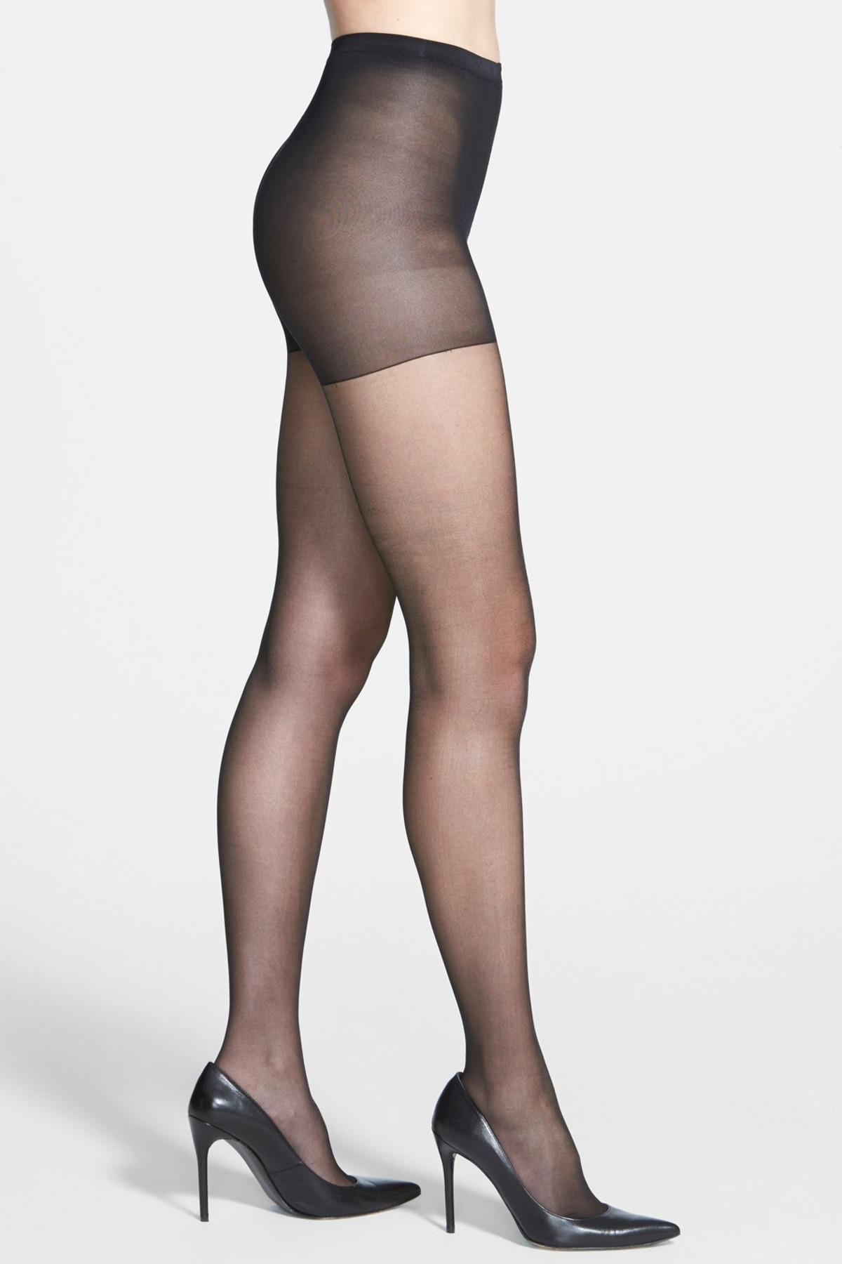144ce985d4d1e Calvin Klein Shimmer Sheer Control Top Pantyhose in Black - Lyst