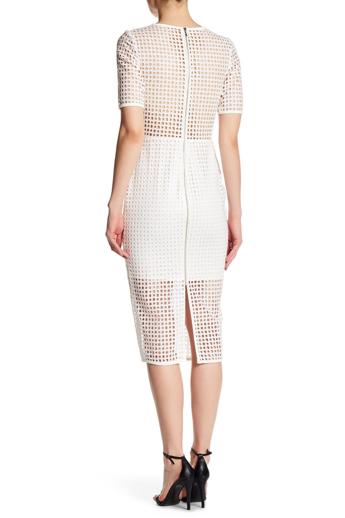 Lyst Nicole Bakti Short Sleeve Eyelet Dress In White