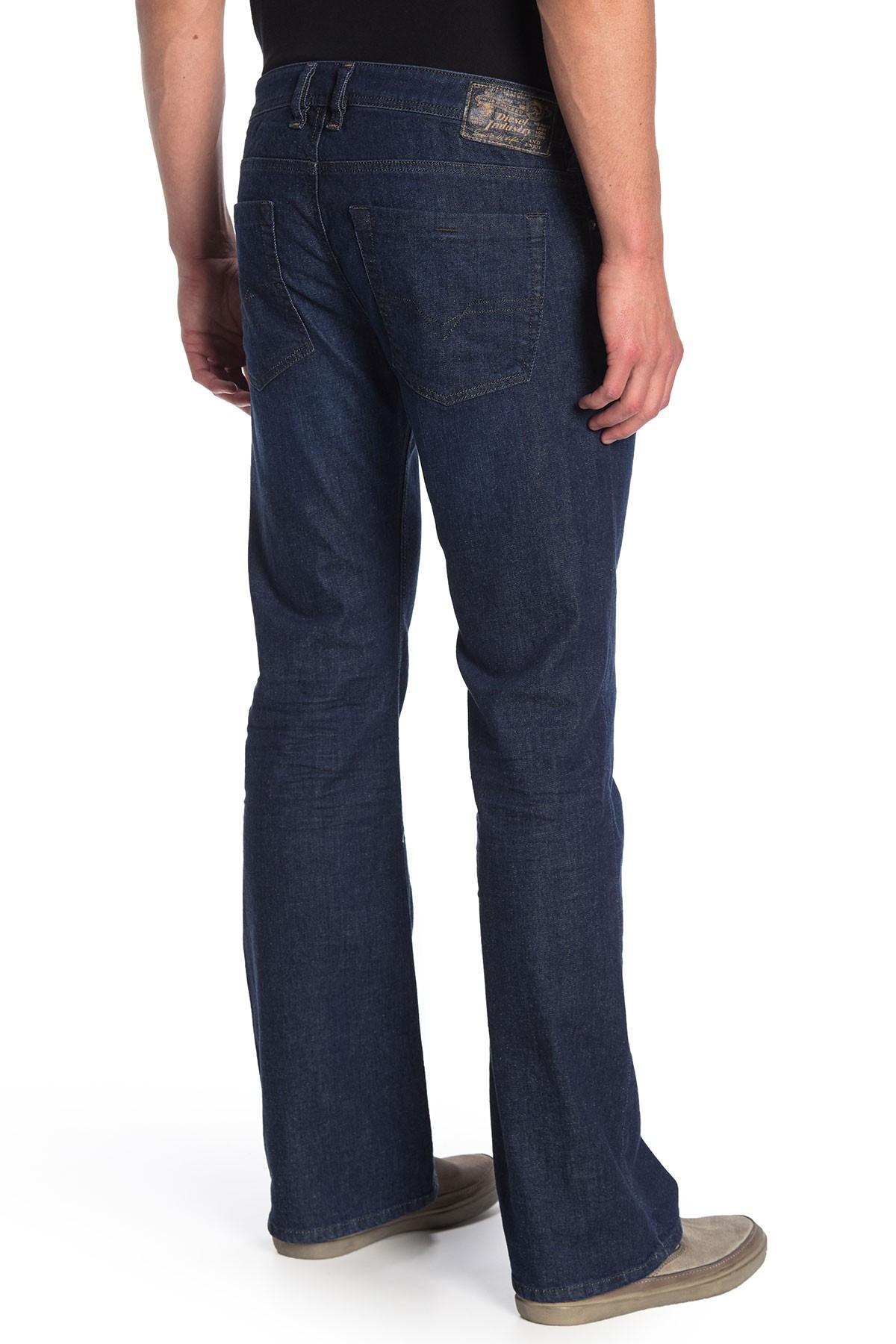 aff5827c DIESEL - Blue Zathan Bootcut Jeans for Men - Lyst. View fullscreen