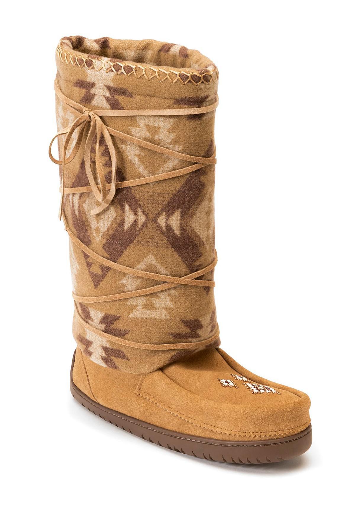 7467e84c90c Lyst - Manitobah Mukluks Wool Lace-up Mukluk in Brown