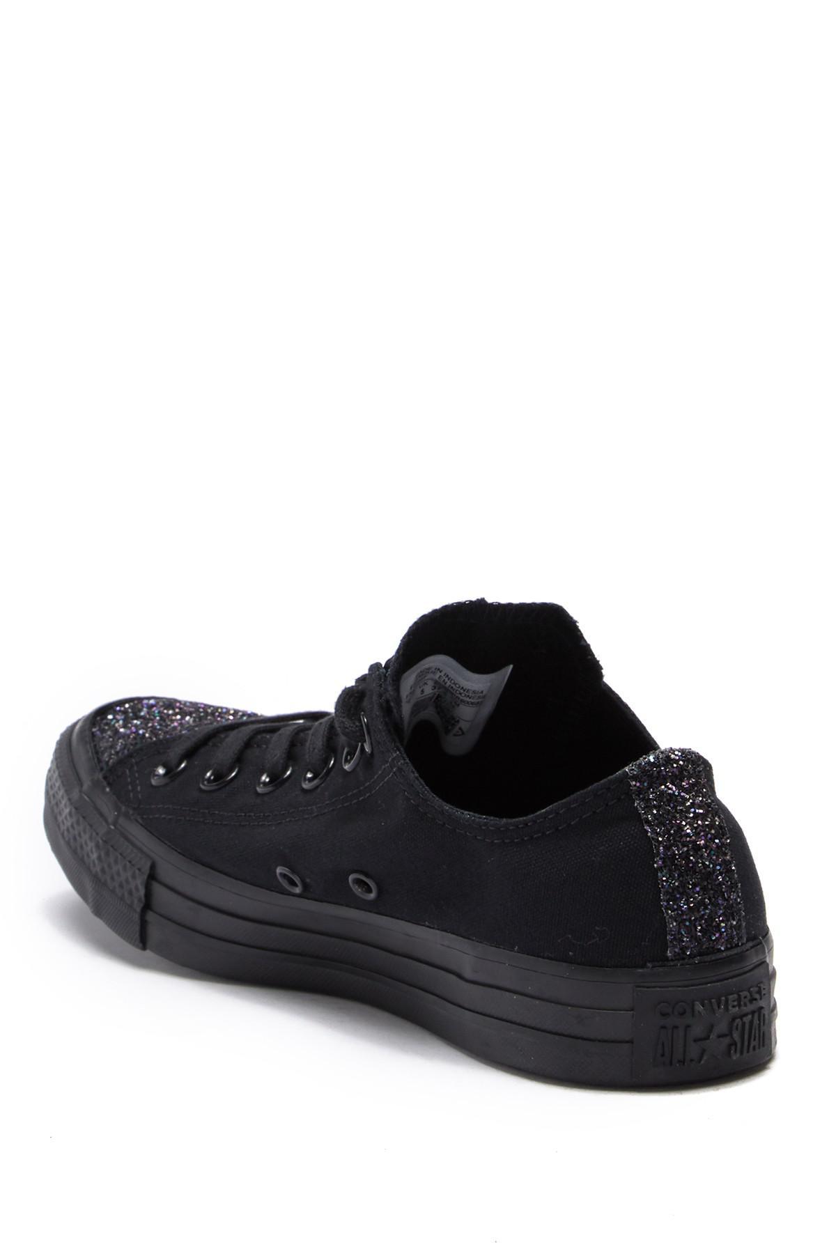 9c66b29a741f Converse - Black Chuck Taylor All Star Ox Glitter Toe Sneaker (women) -  Lyst. View fullscreen