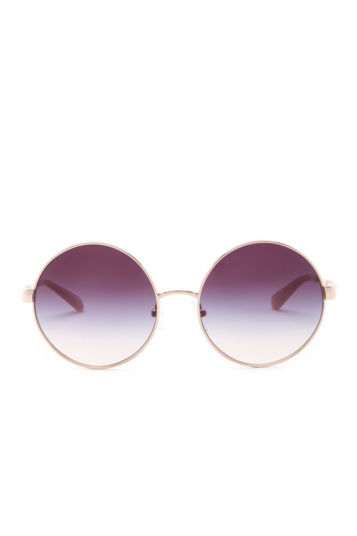 748ef398fc Michael Kors Cho 56mm Round Sunglasses in Purple - Lyst