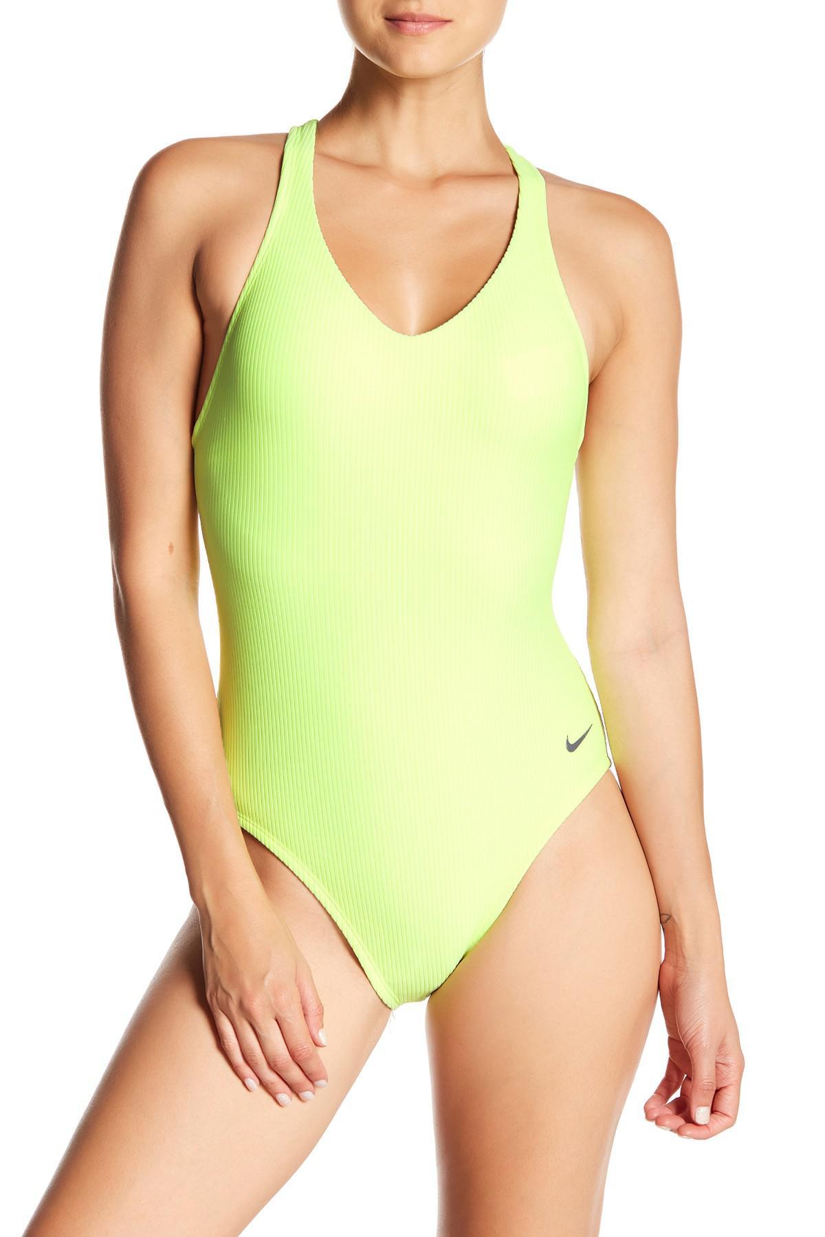 235cc8f22c3 Lyst - Nike Racerback One-piece Swimsuit in Green