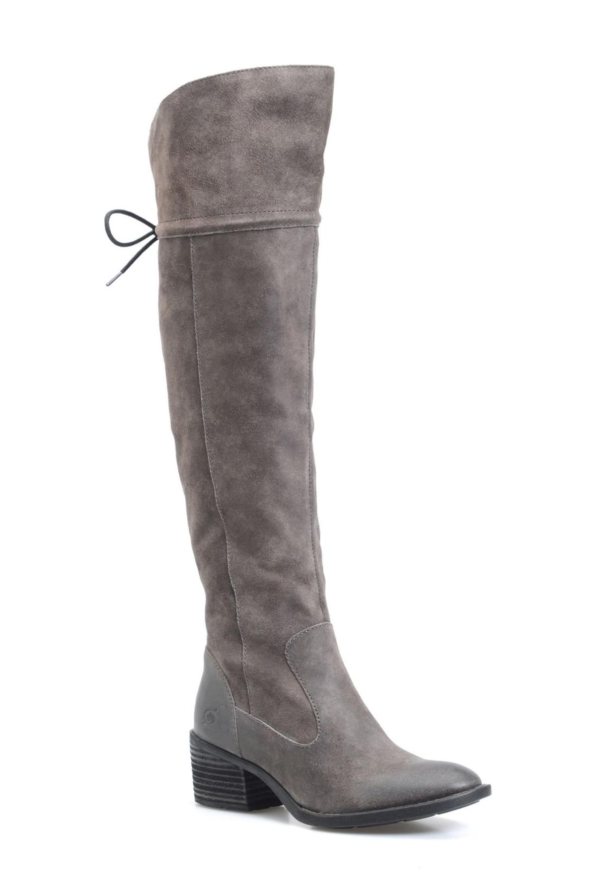 6115f7342c2 Lyst - Born Gallinara Over The Knee Boot in Gray