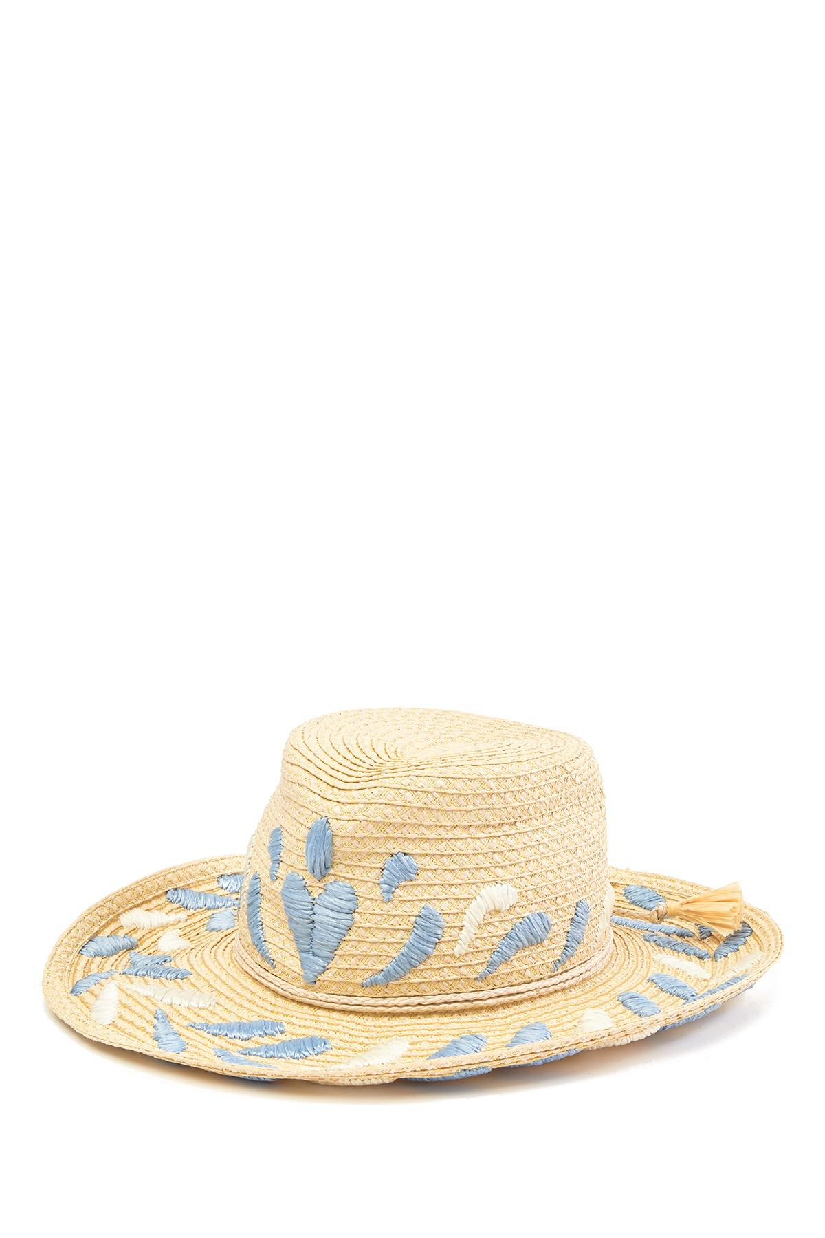 079feff9378 Lyst - Eric Javits Corsica Patterned Cowboy Hat in Natural - Save 71%