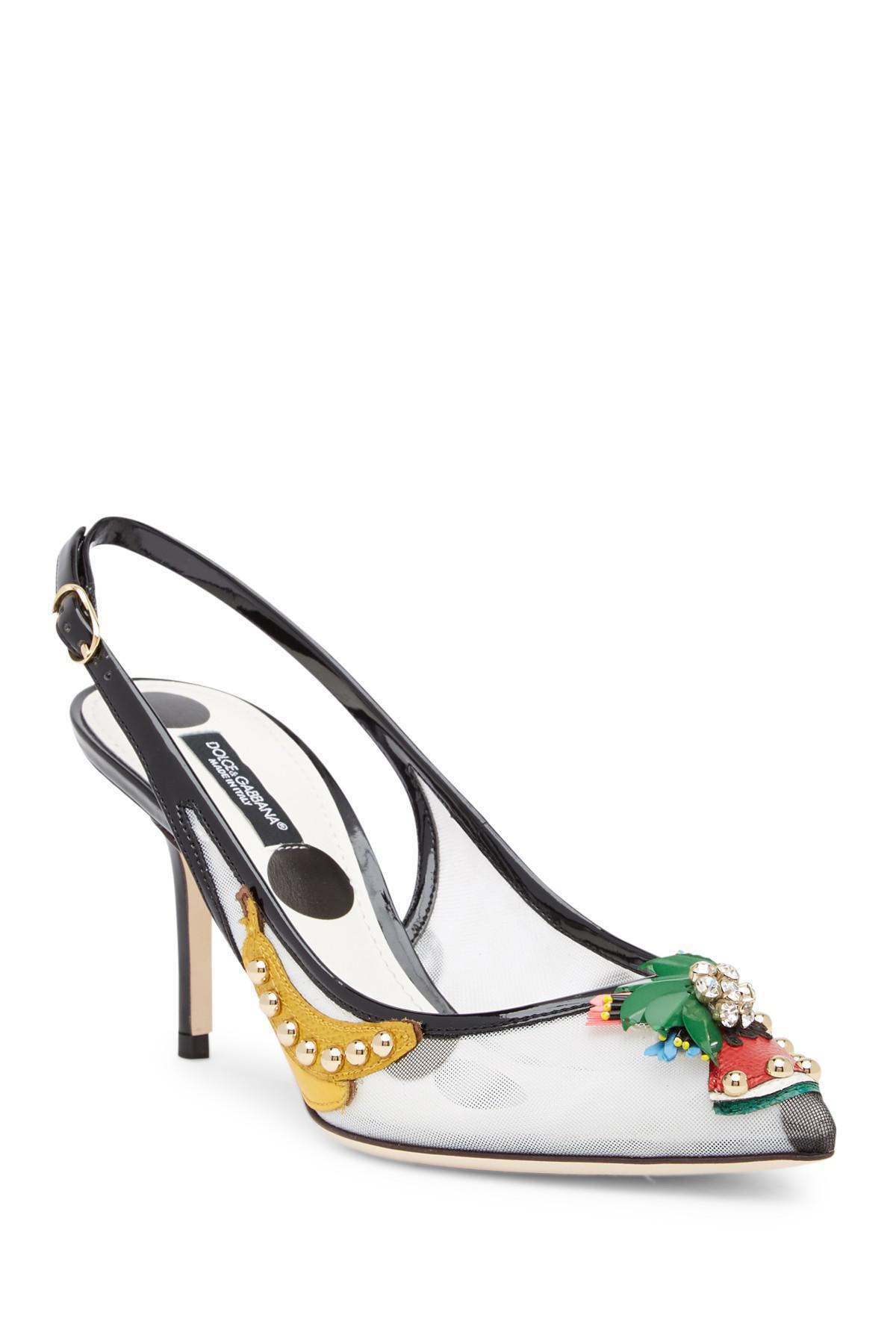 04d6bd97e2e Lyst - Dolce   Gabbana Fruit Kitten Heel