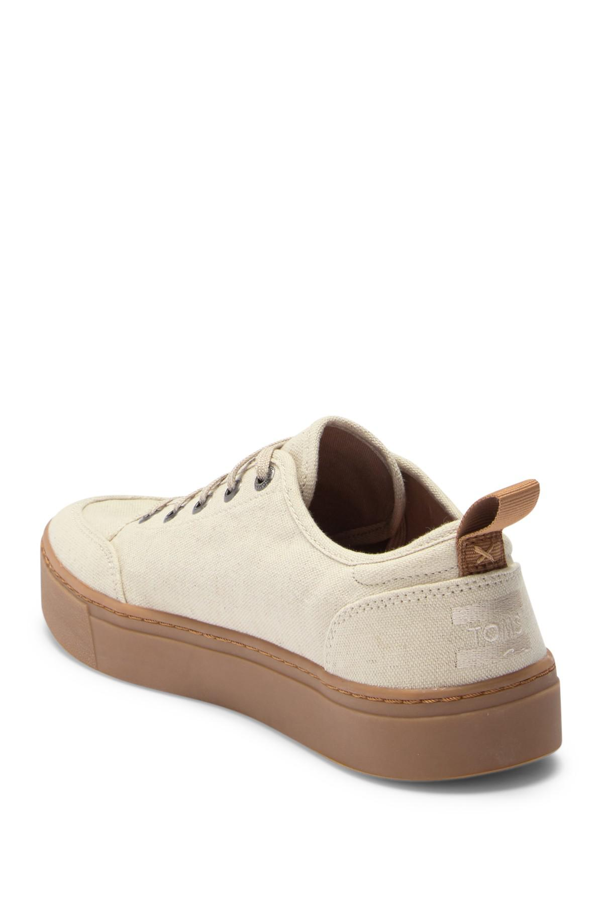 7c1cbcfe56e Lyst - TOMS Landen Canvas Sneaker in Natural for Men - Save 68%