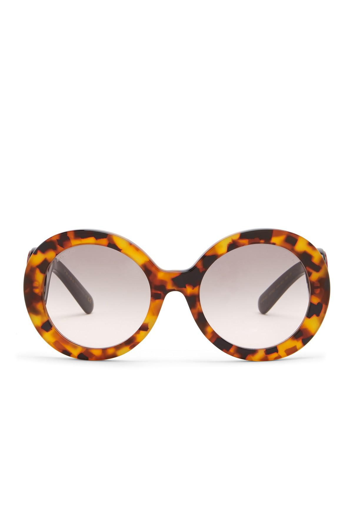 59d75cbc45abf ... new zealand lyst prada womens 55mm round catwalk minimal baroque  sunglasses ea3e5 aa050