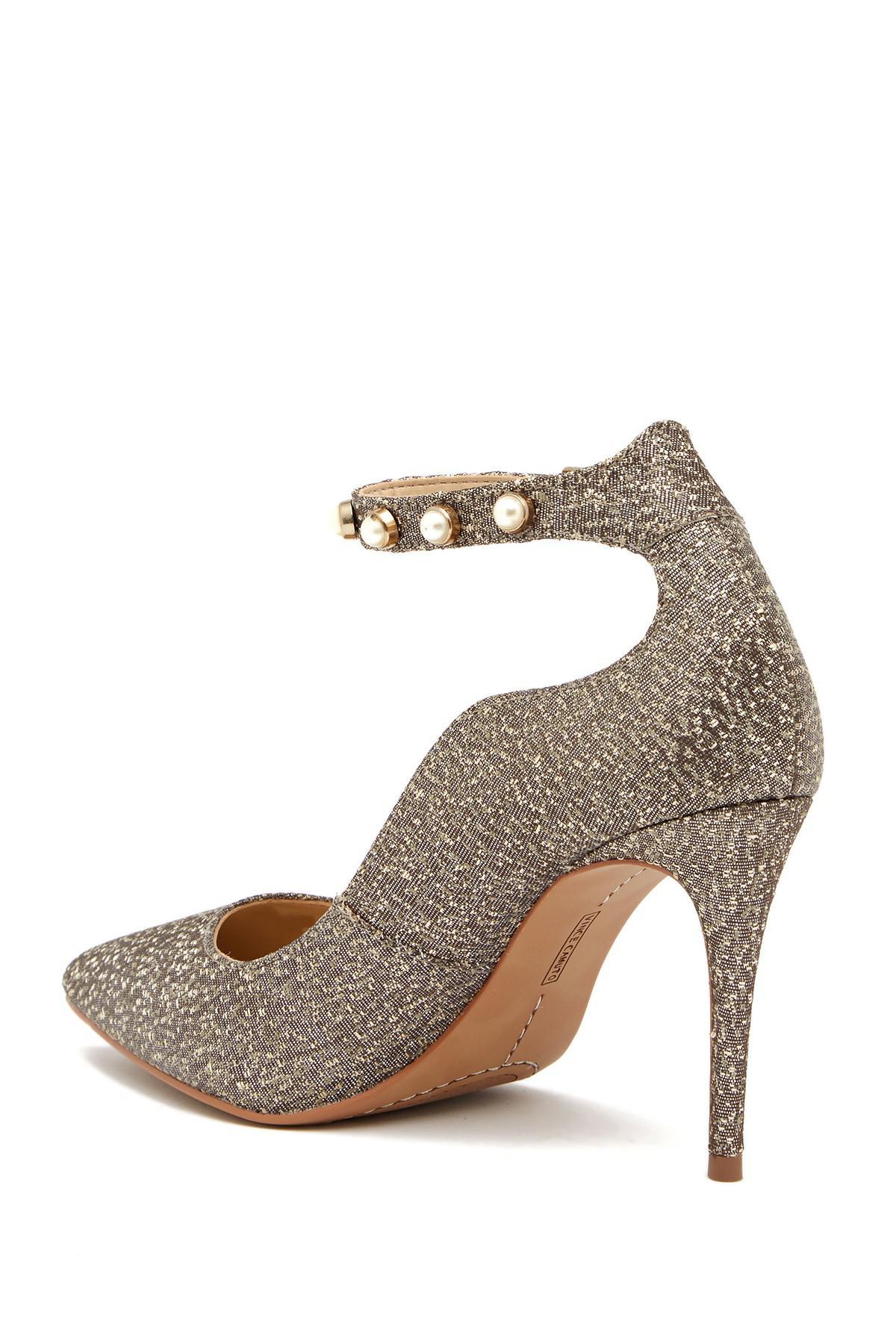 Vince Camuto Jassita Glitter Pearl Ankle Strap Pumps yGssQeO