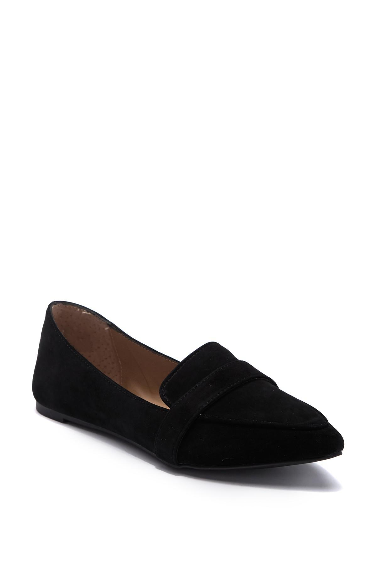 f6d5a43f065 Lyst - Steve Madden Jainna Suede Penny Loafer in Black