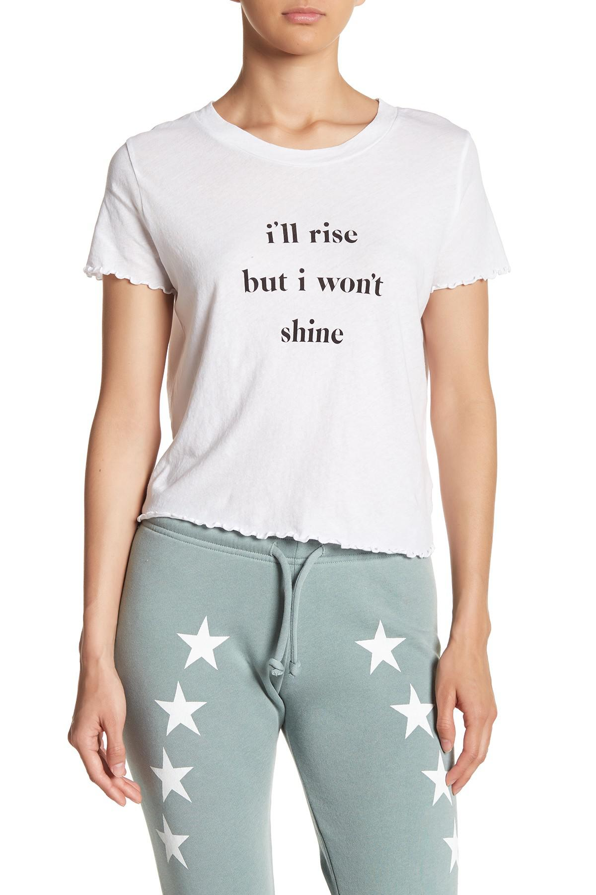 Lyst Wildfox Rise Shine Sydney Graphic Print Tee In White