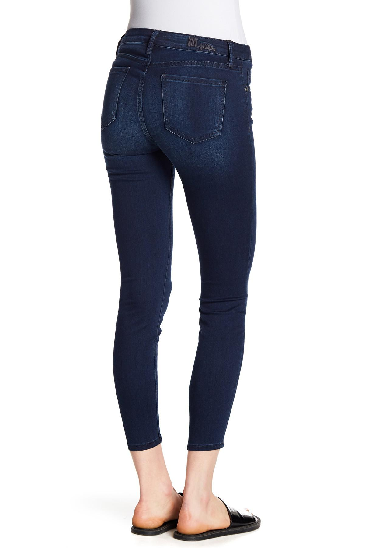 98c57ee24ee Kut From The Kloth Dakota Skinny Ankle Jeans in Blue - Lyst