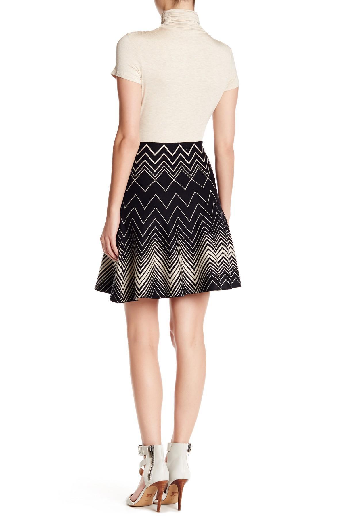 Lyst Max Studio Twirl Print Pleated Skirt In Black
