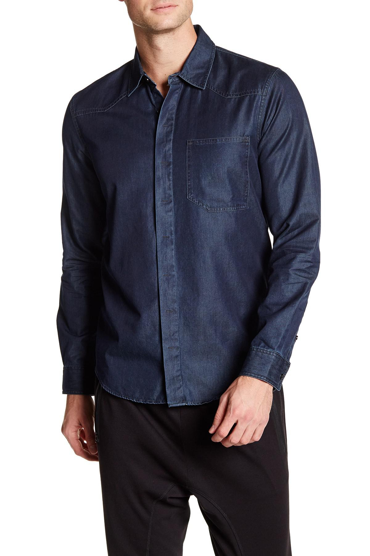 Lyst quinn harper long sleeve shirt in blue for men for Nordstrom custom dress shirts