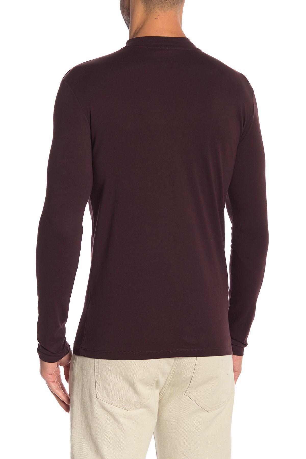 9ce86139 Lindbergh - Purple Mock Neck Long Sleeve Tee for Men - Lyst. View fullscreen