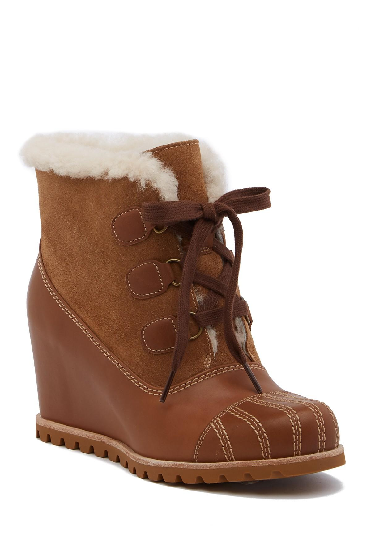 fb770e4d4d2 UGG Alasdair Genuine Shearling Lined Waterproof Wedge Bootie in ...