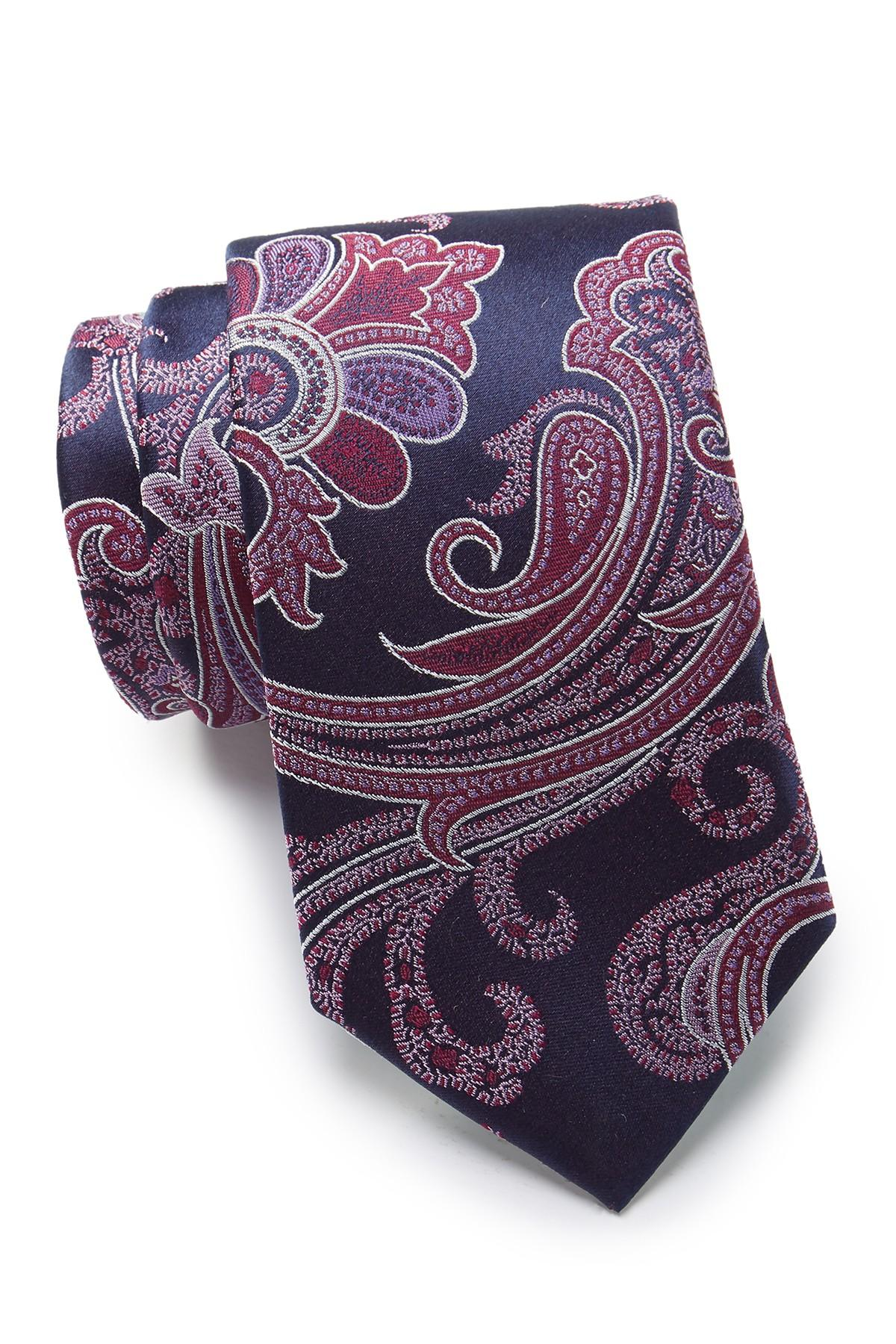 97ed2fc9f Lyst - Ted Baker Silk Luxury Satin Paisley Tie in Pink for Men