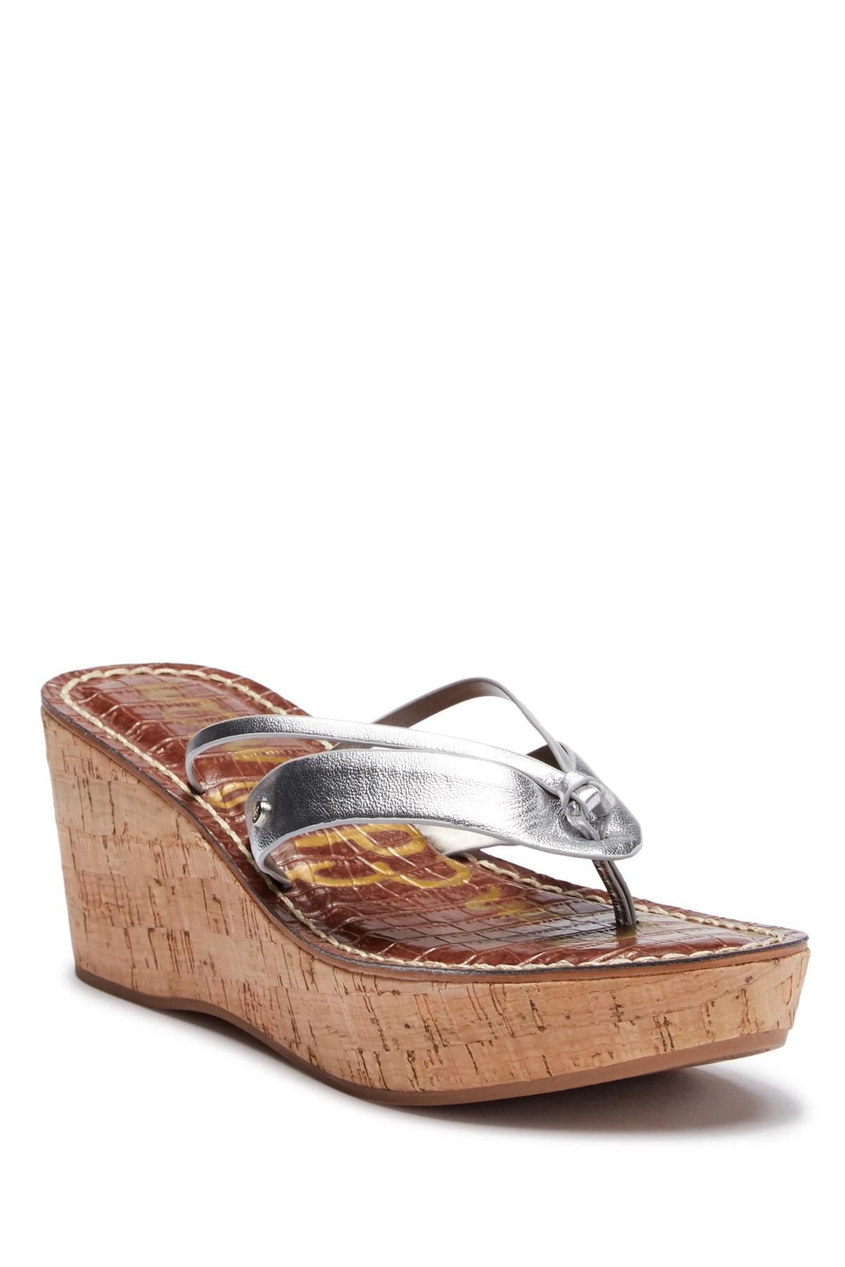 303f8776c9c28 Lyst - Sam Edelman Rona Platform Wedge Sandal in Metallic