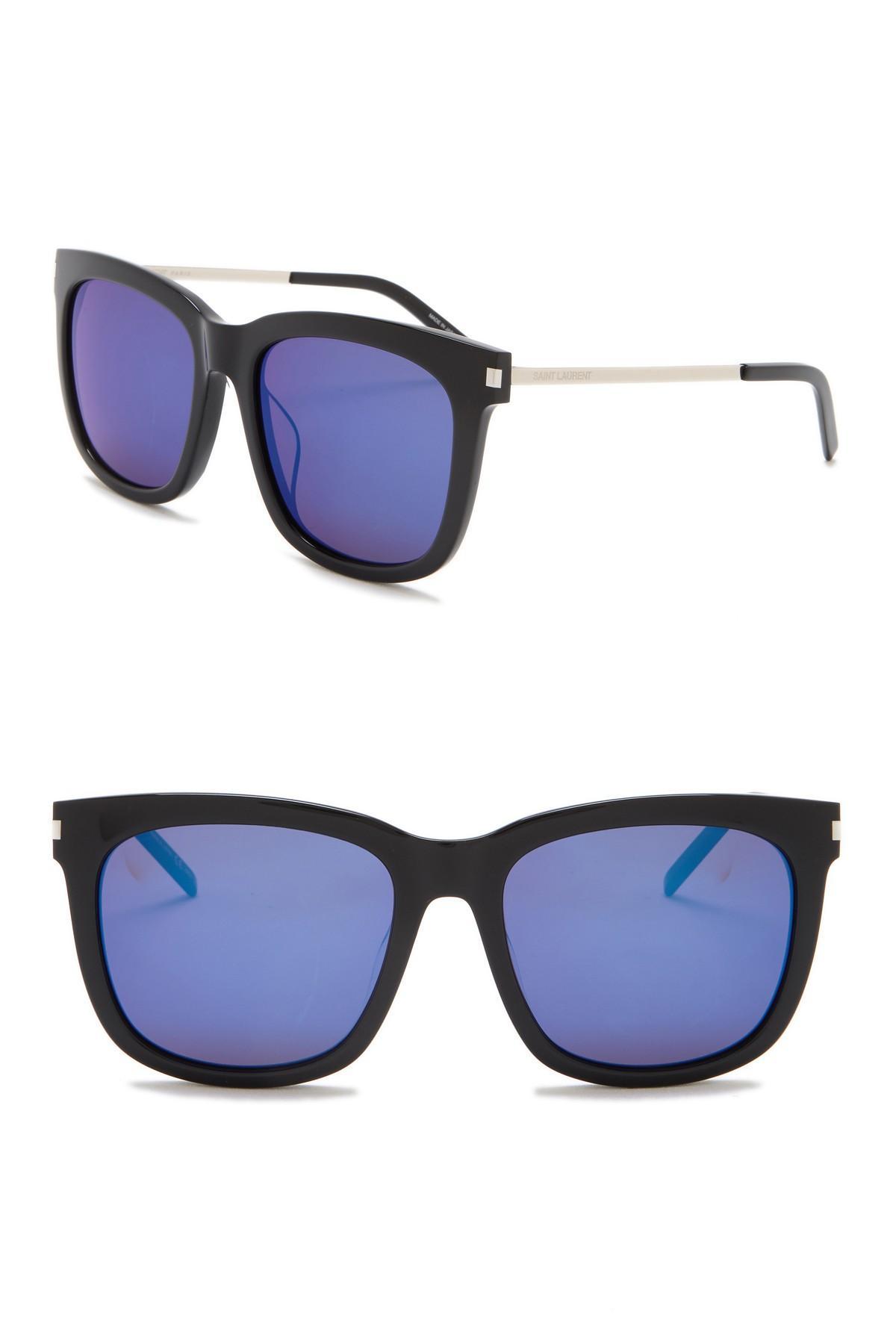 76cf5a3b1b Lyst - Saint Laurent 56mm Square Sunglasses in Black for Men