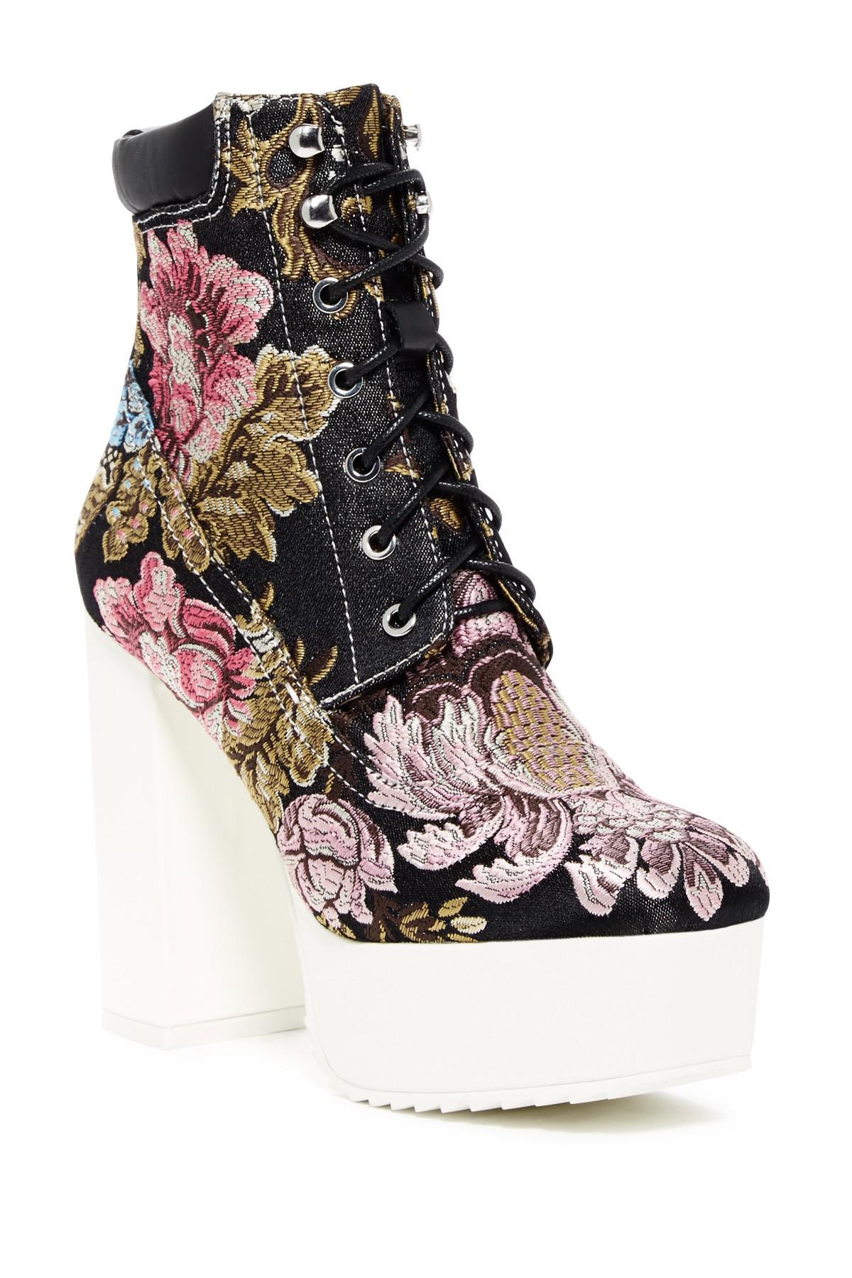 ba6a4bd778b Lyst - Shellys London Evan Platform Lace-up Boot in Black