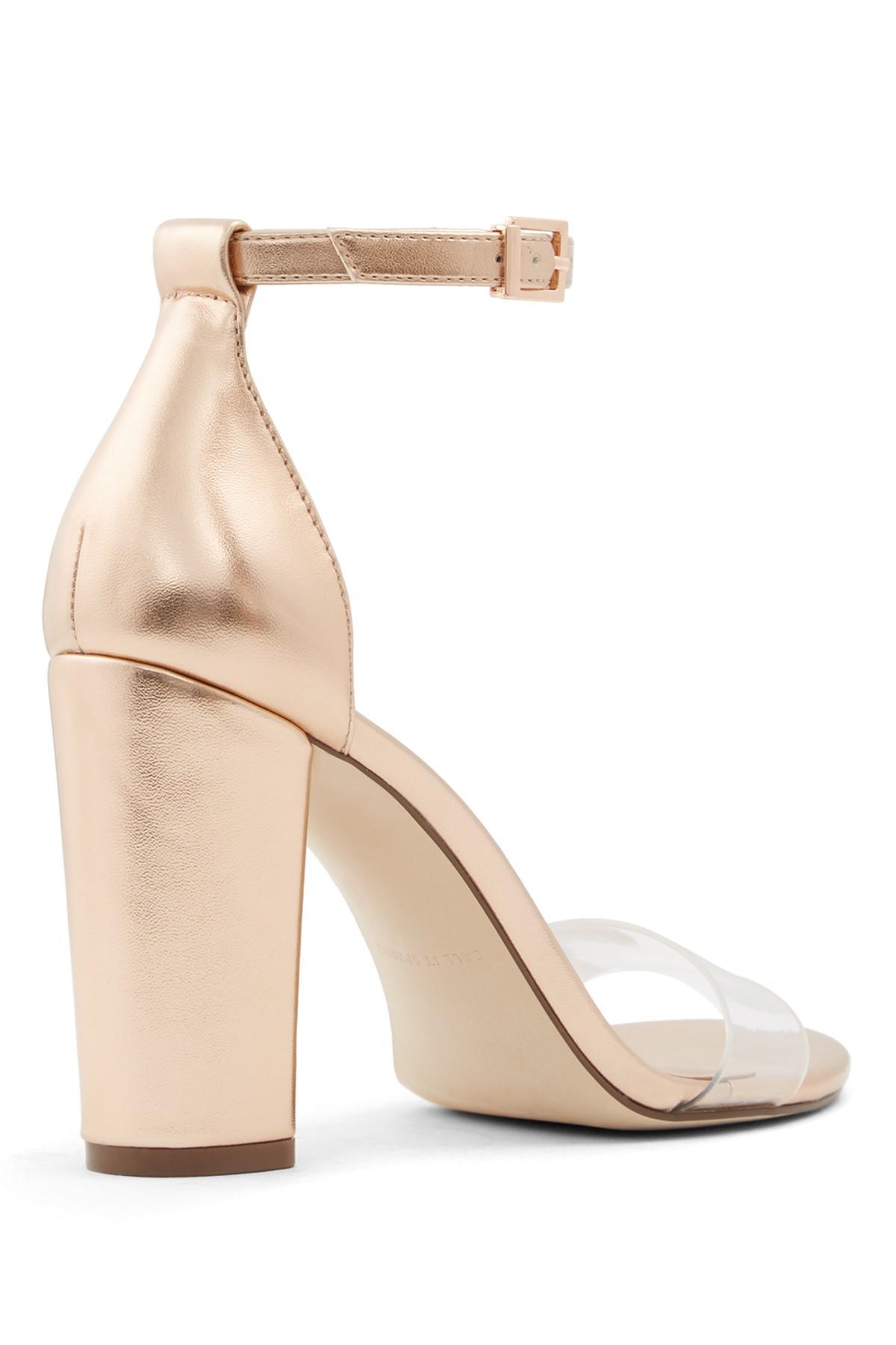 22f09e9919 Call It Spring - Metallic Tayvia Block Heel Sandal - Lyst. View fullscreen