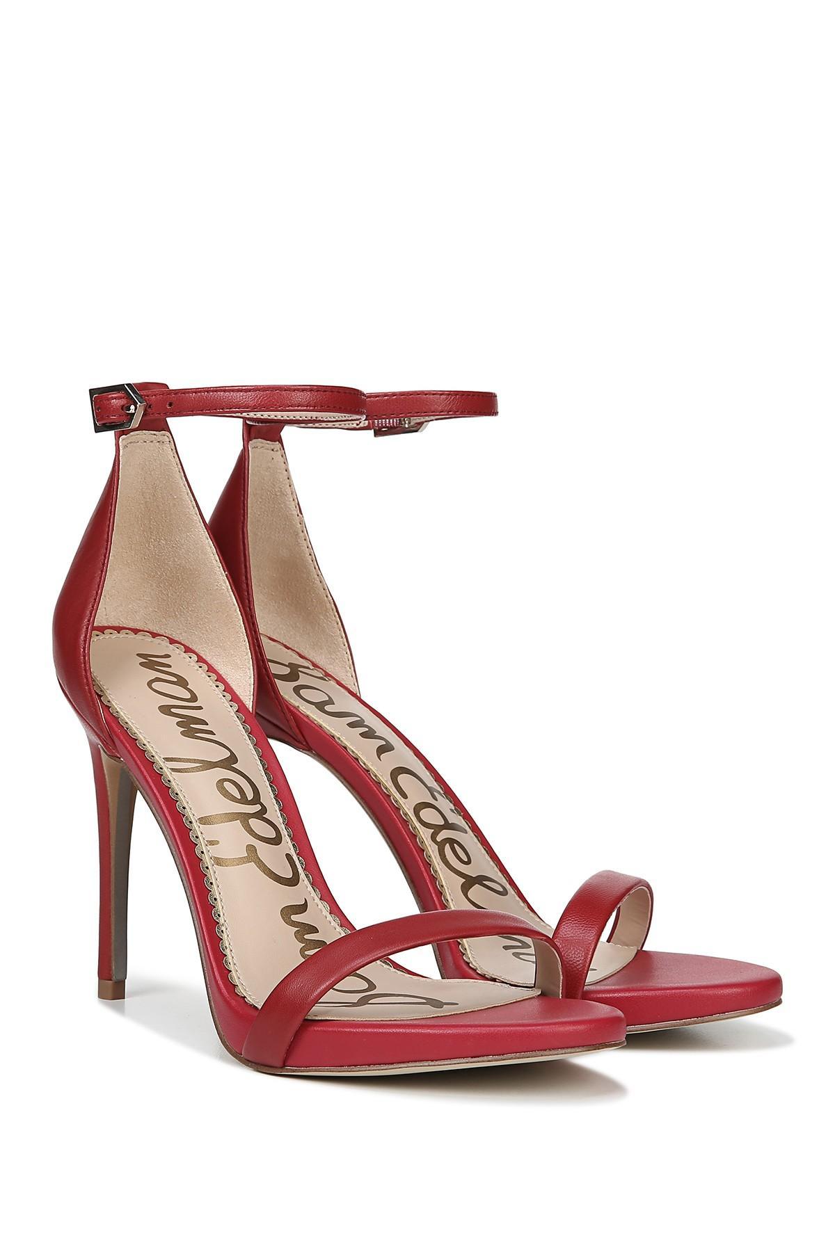 9c21cde23 Sam Edelman Ariella Ankle Strap Sandal in Red - Save 40% - Lyst