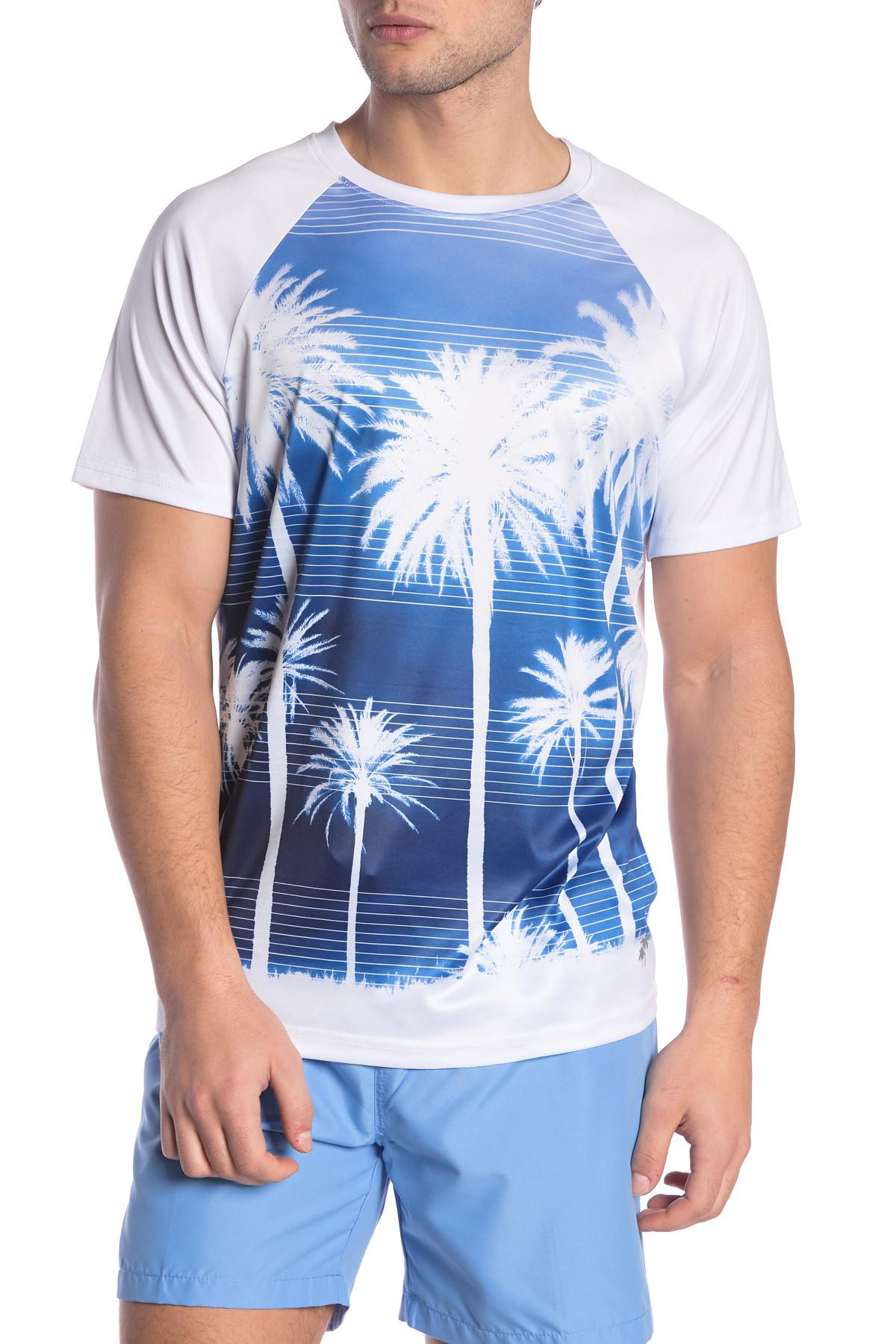 d3eed67a9dec8 Lyst - Trunks Surf And Swim Co Placement Print Short Sleeve Swim Tee ...