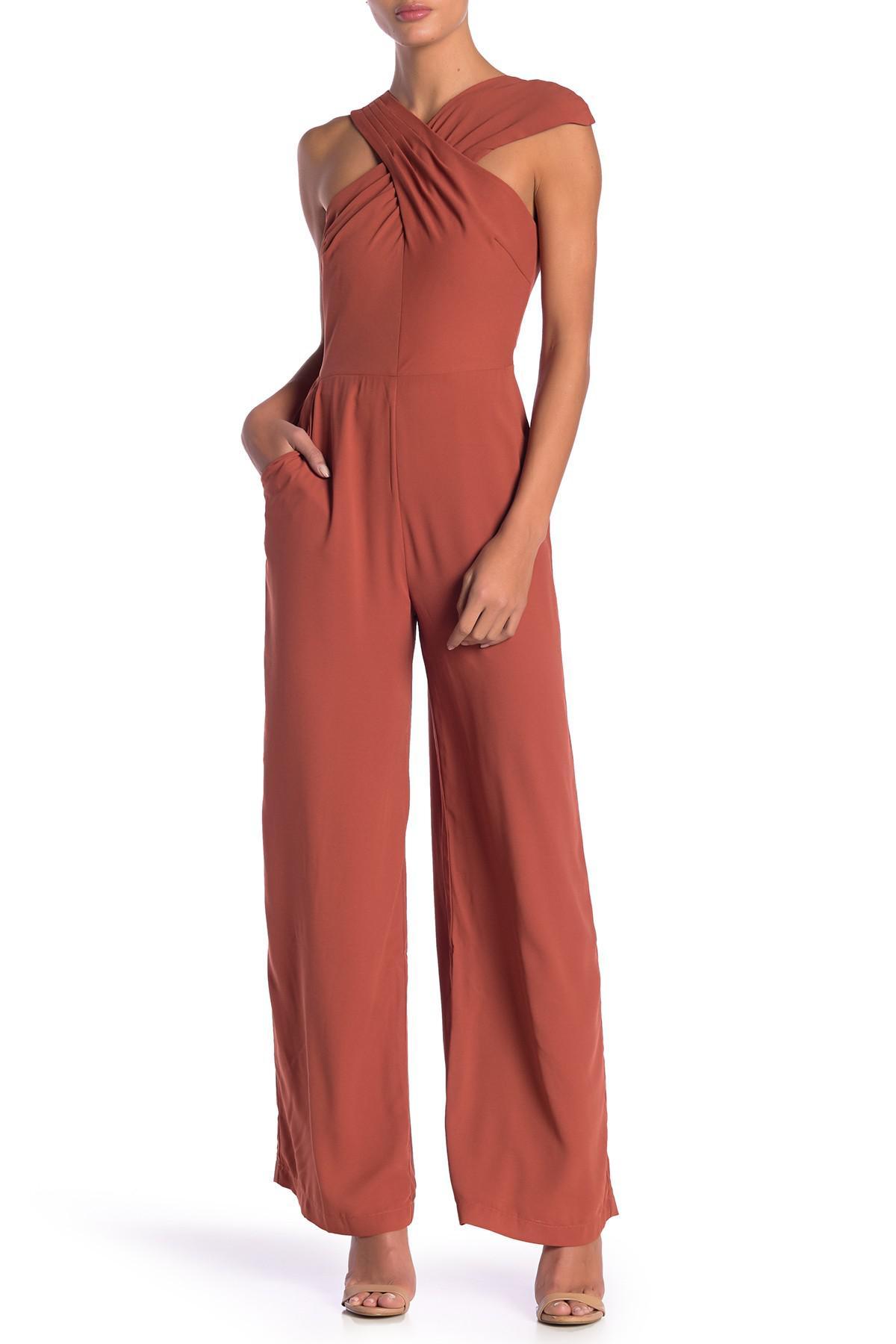 ef7fb902116 Lyst - Adelyn Rae Heidi Halter Jumpsuit in Red